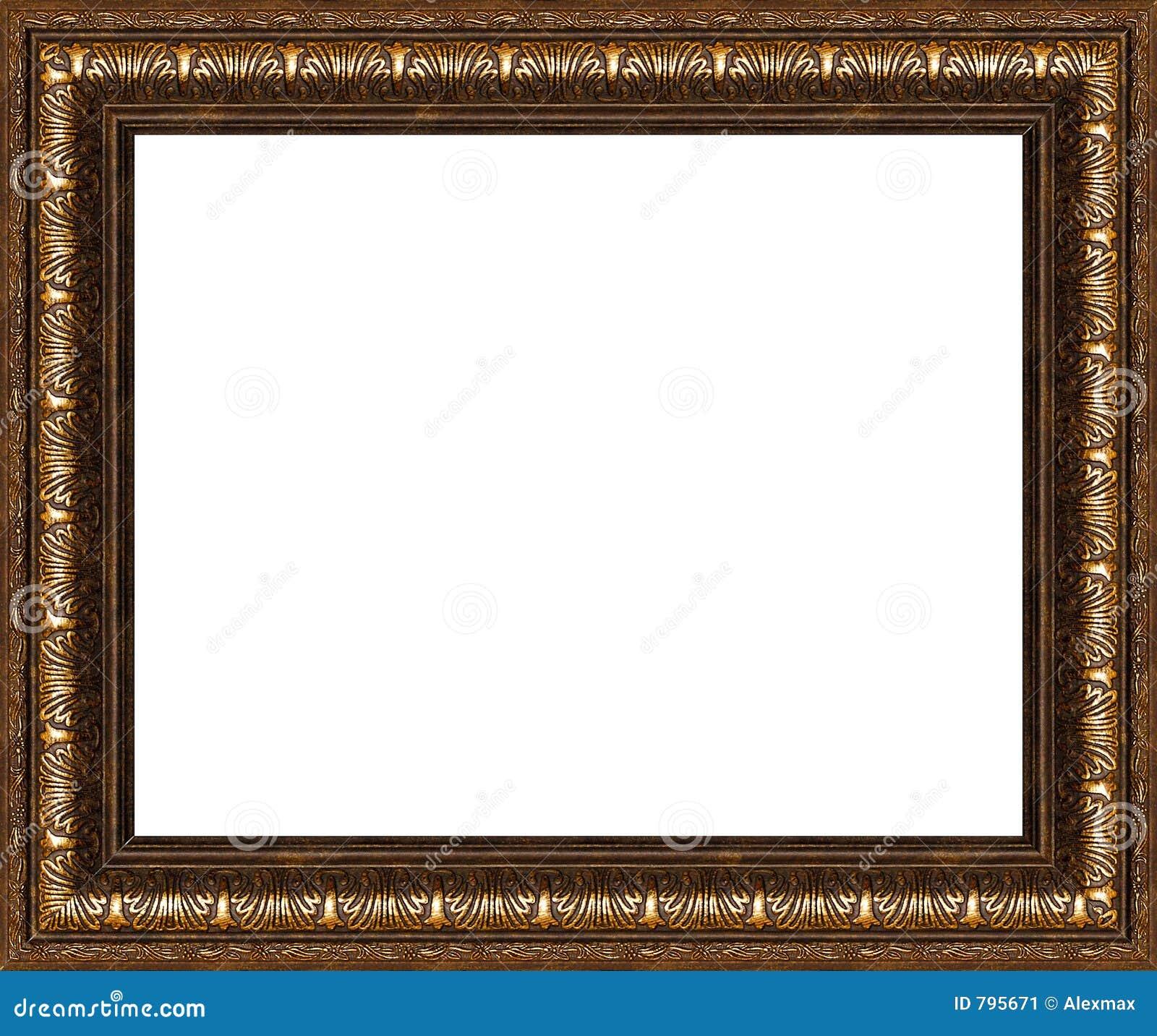 Cadre de tableau rustique antique d 39 isolement image stock for Image de cadre de tableau