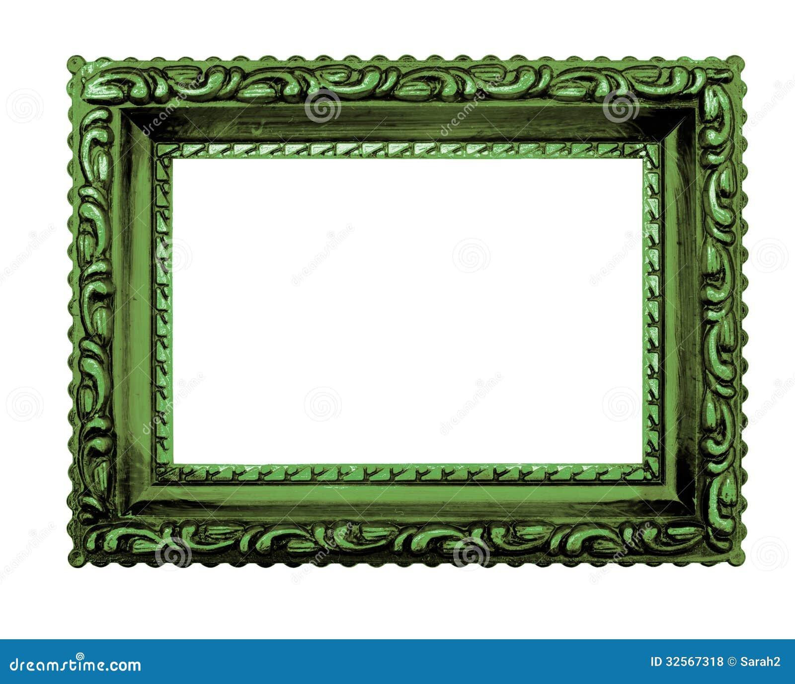 Cadre de tableau vert chic minable fond blanc photos for Image de cadre de tableau