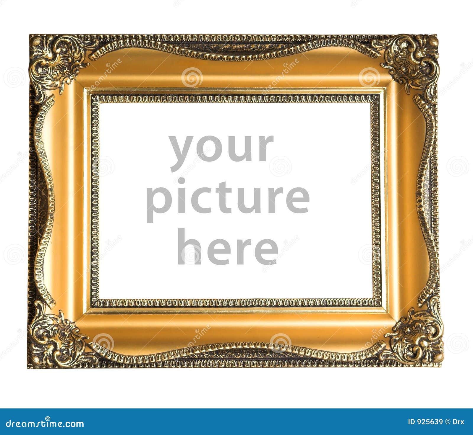 cadre de tableau vide image stock image du path riche 925639. Black Bedroom Furniture Sets. Home Design Ideas
