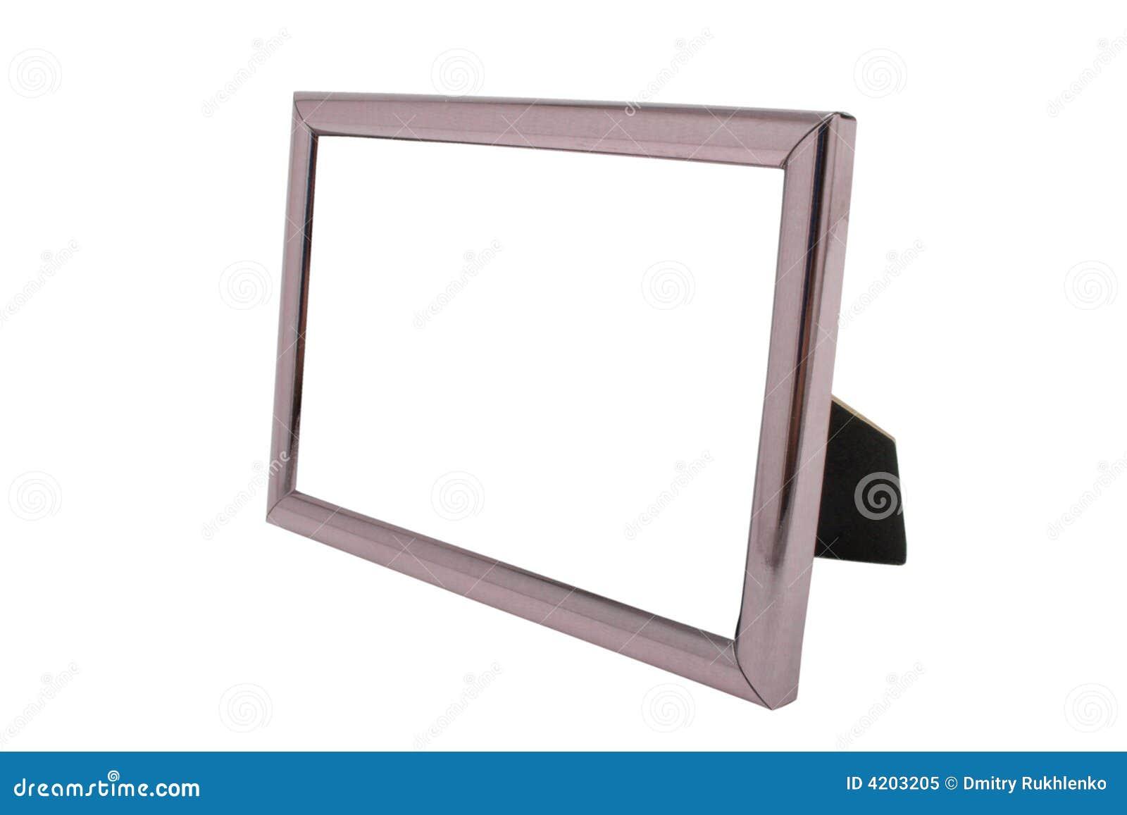 Cadre de tableau vide en m tal d 39 isolement image stock - Image de cadre de tableau ...
