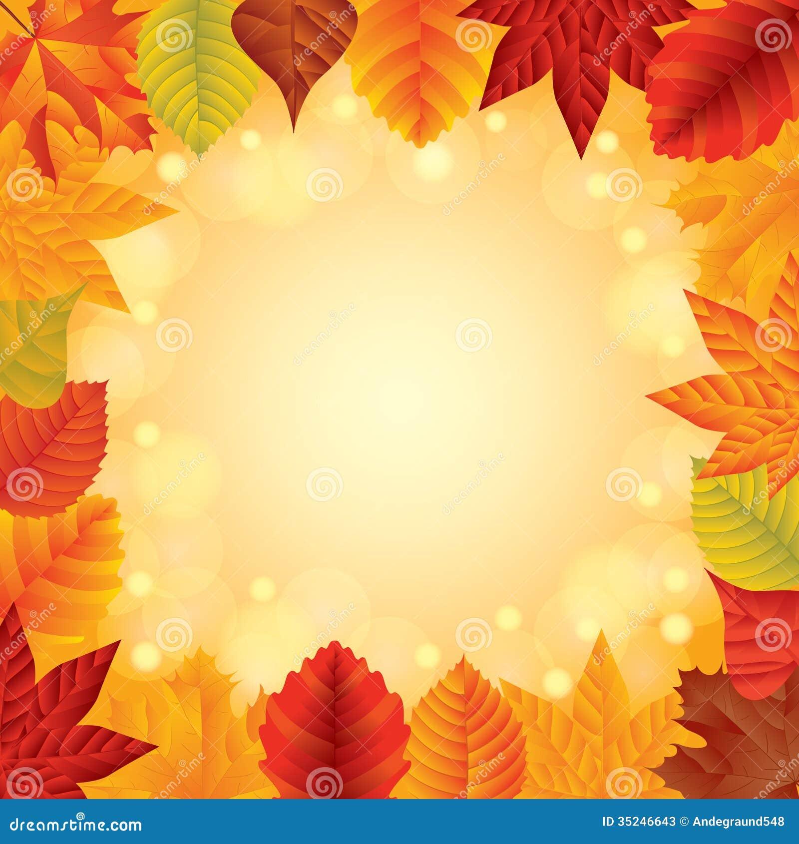 Cadre de vecteur de feuilles d 39 automne illustration de - Image feuille automne ...