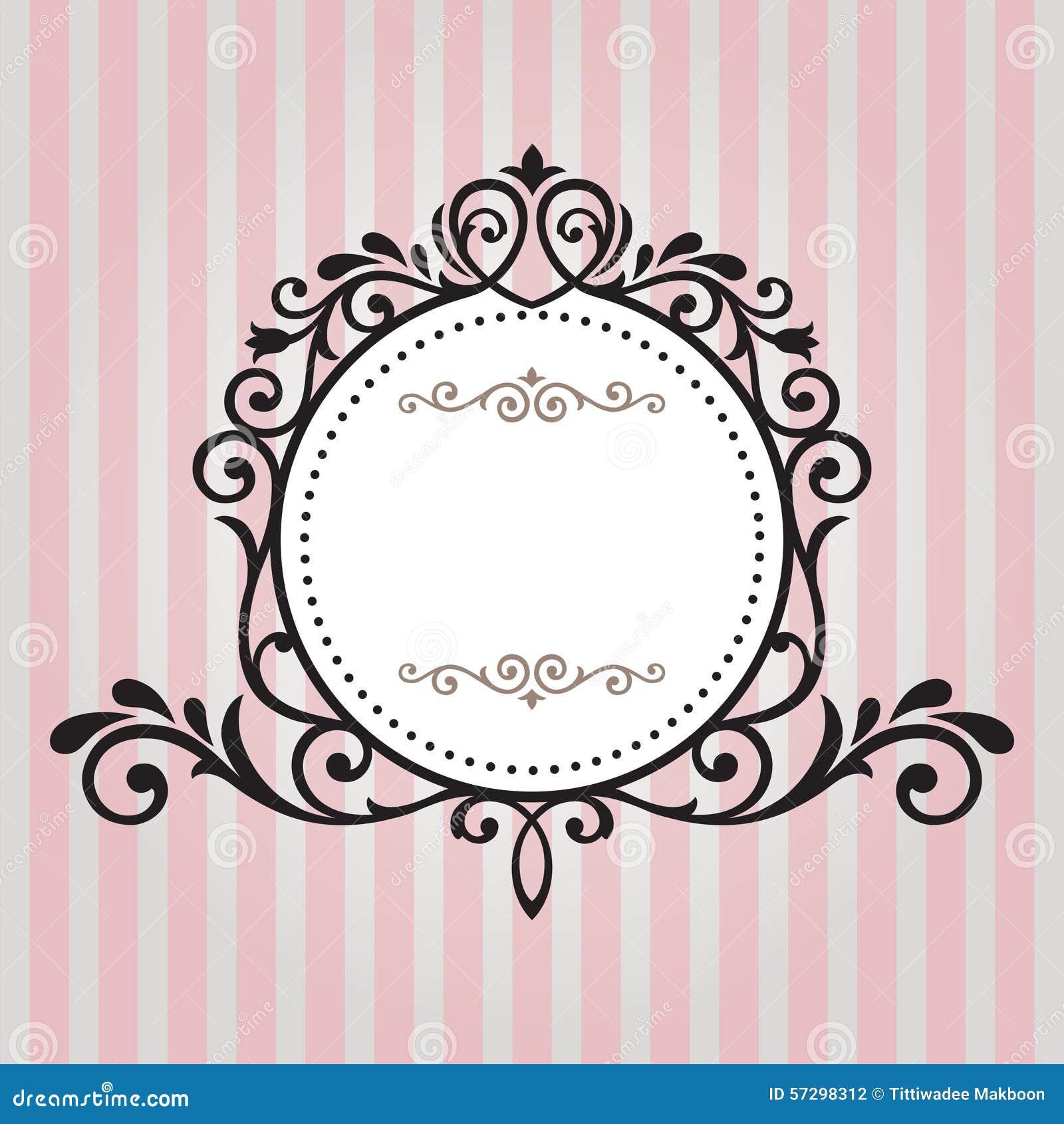 cadre de vintage sur le fond de rayure illustration stock image 57298312. Black Bedroom Furniture Sets. Home Design Ideas