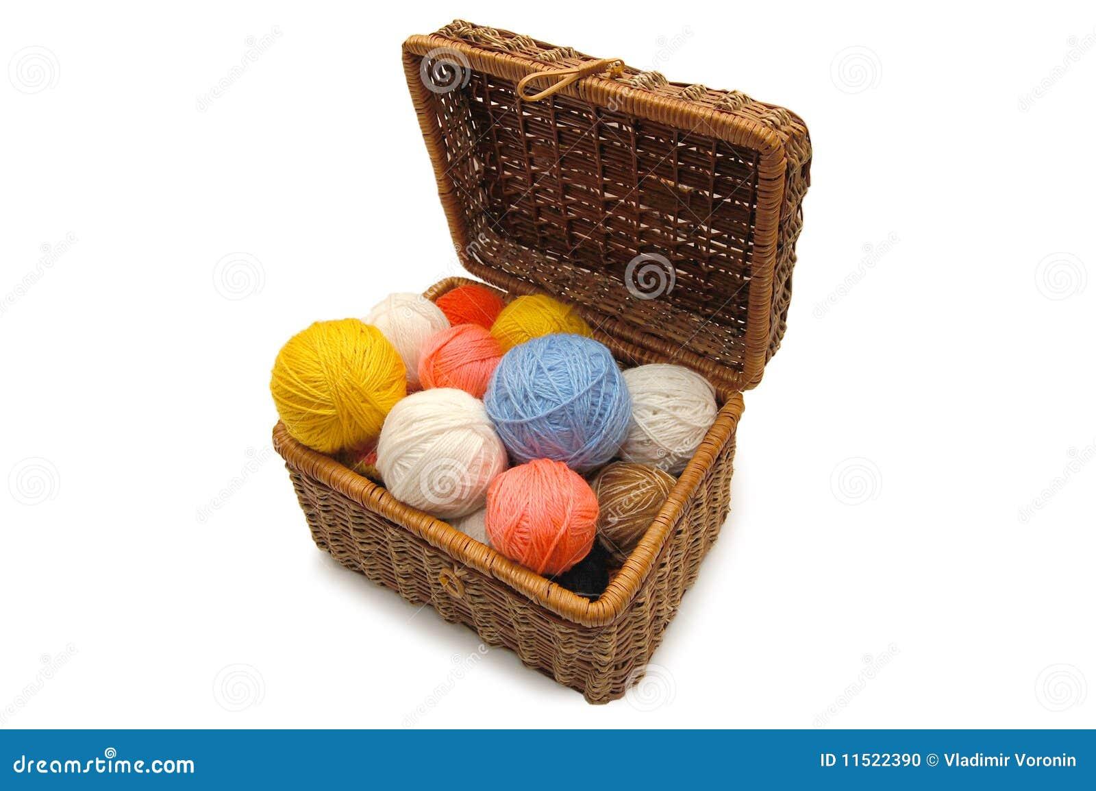 Cadre de Wattled avec des billes de couleur d une laine