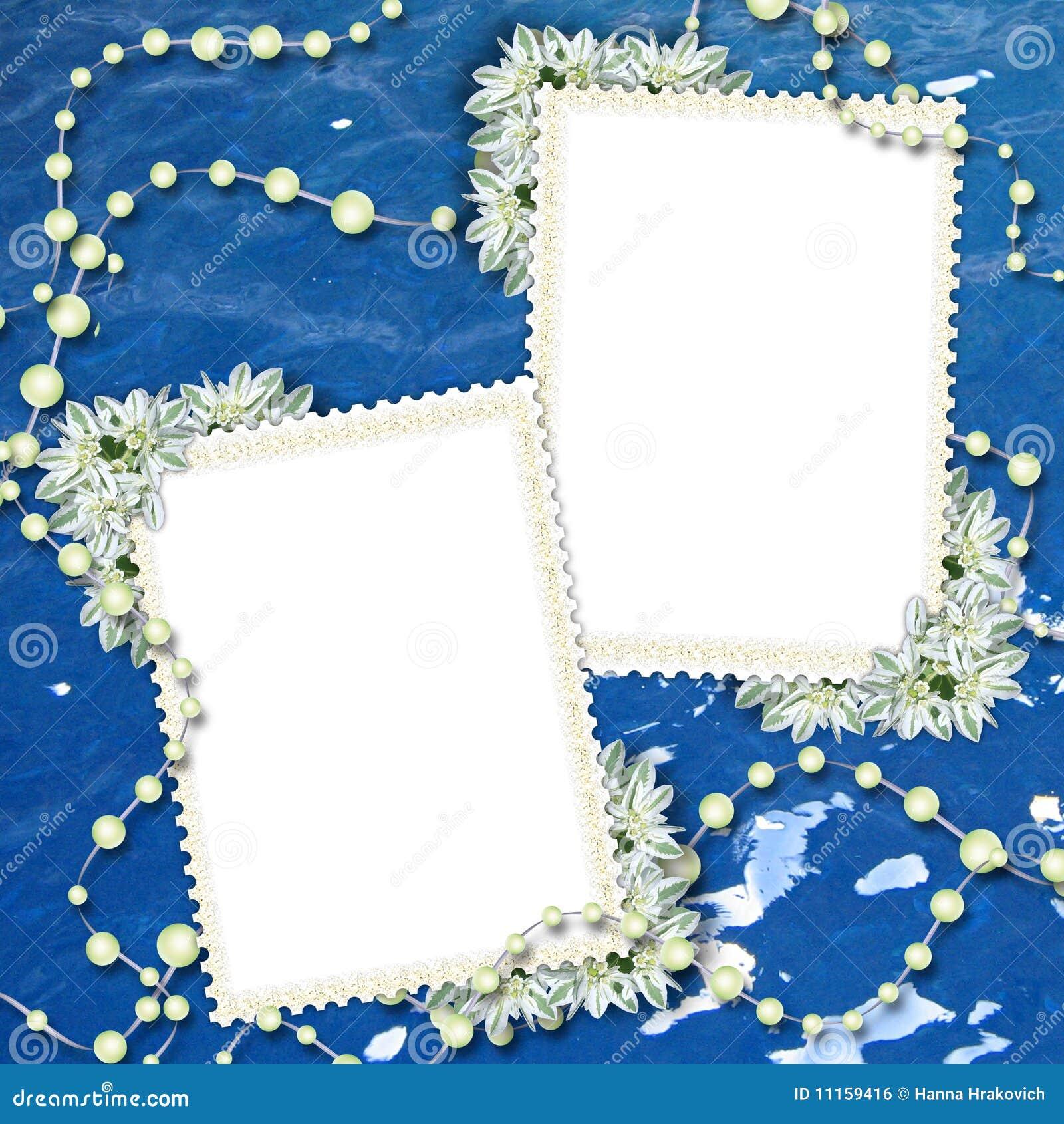cadre deux pour photos ou lettres image libre de droits image 11159416. Black Bedroom Furniture Sets. Home Design Ideas
