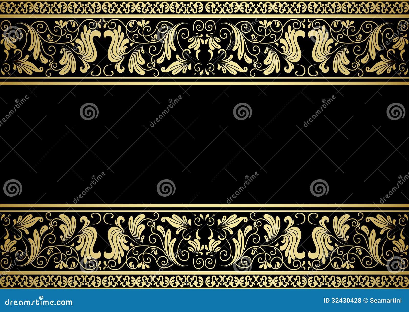 Cadre doré avec les éléments décoratifs