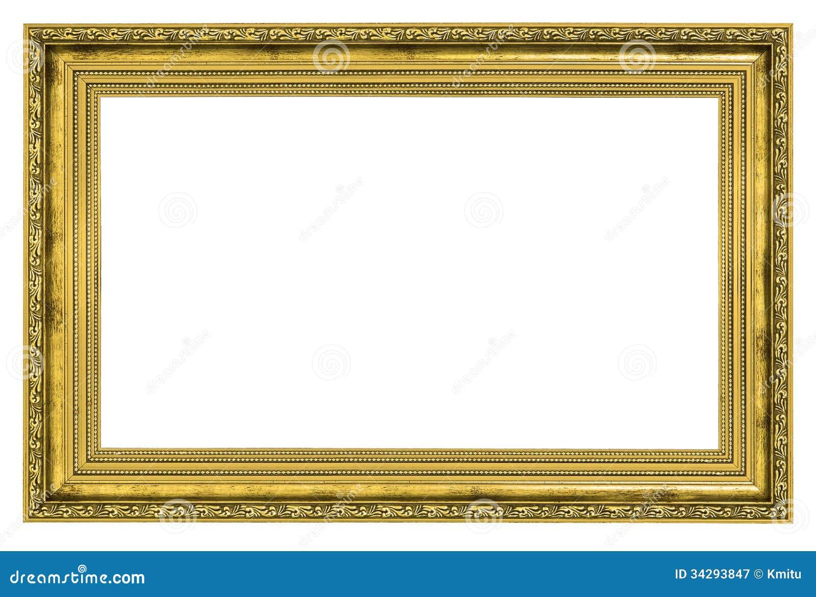 Cadre Dor Avec La Fronti Re Paisse Photographie Stock Libre De Droits Image 34293847