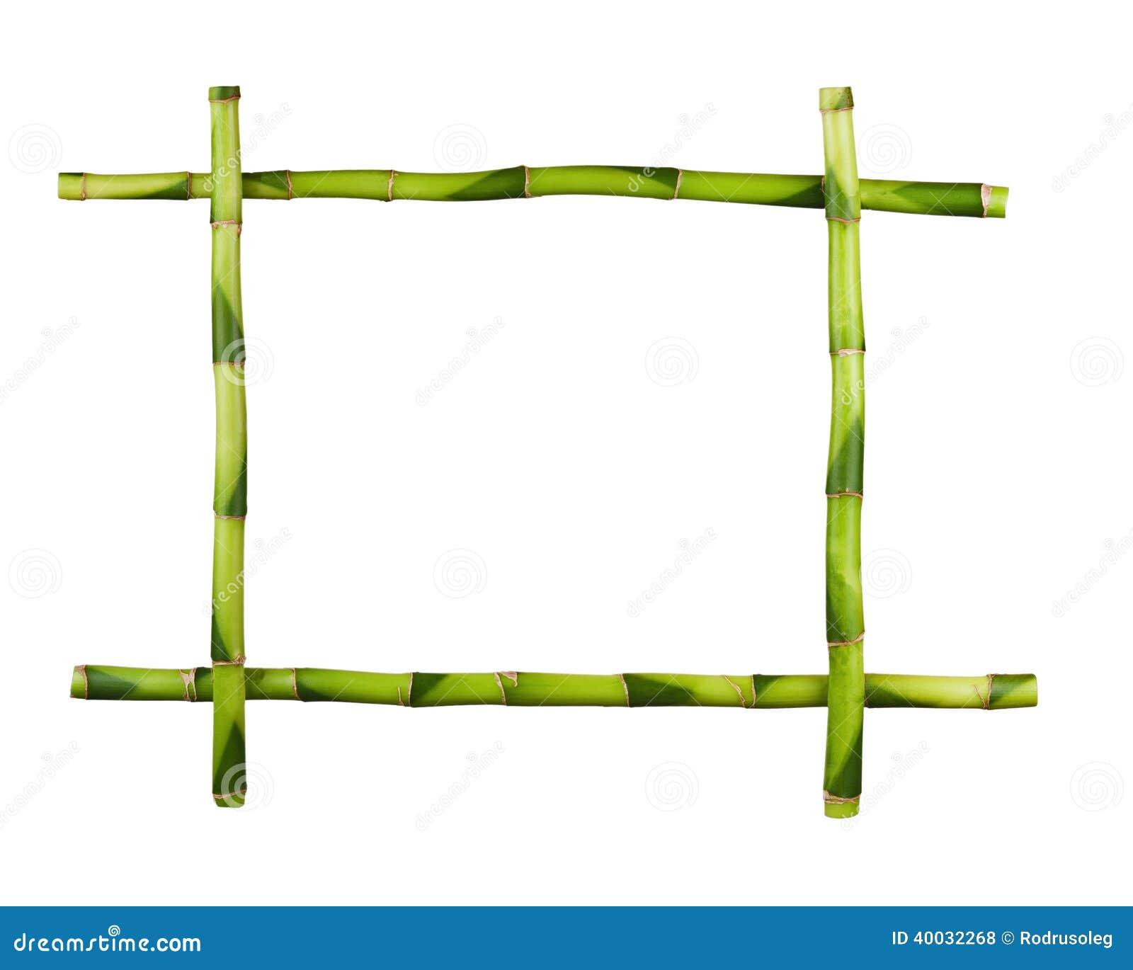 Cadre en bambou vert d 39 isolement sur le fond blanc photo - Tout sur le bambou ...