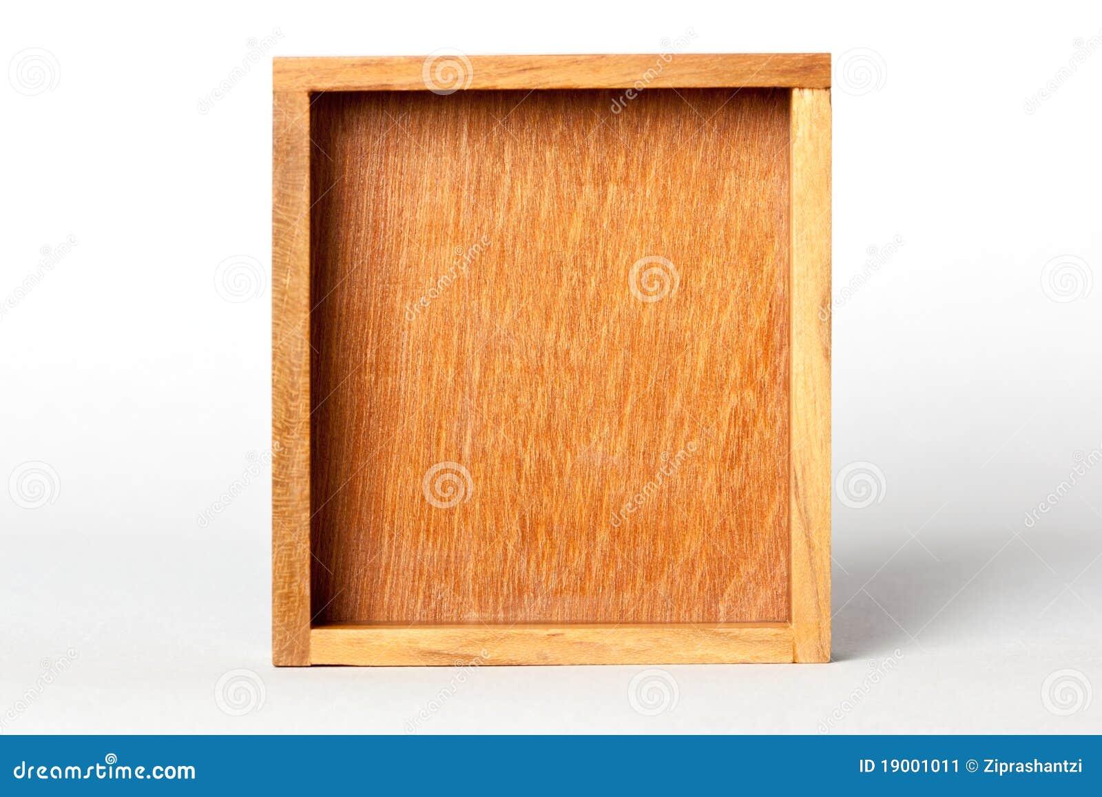 cadre en bois carré jaune image stock. image du wooden - 19001011