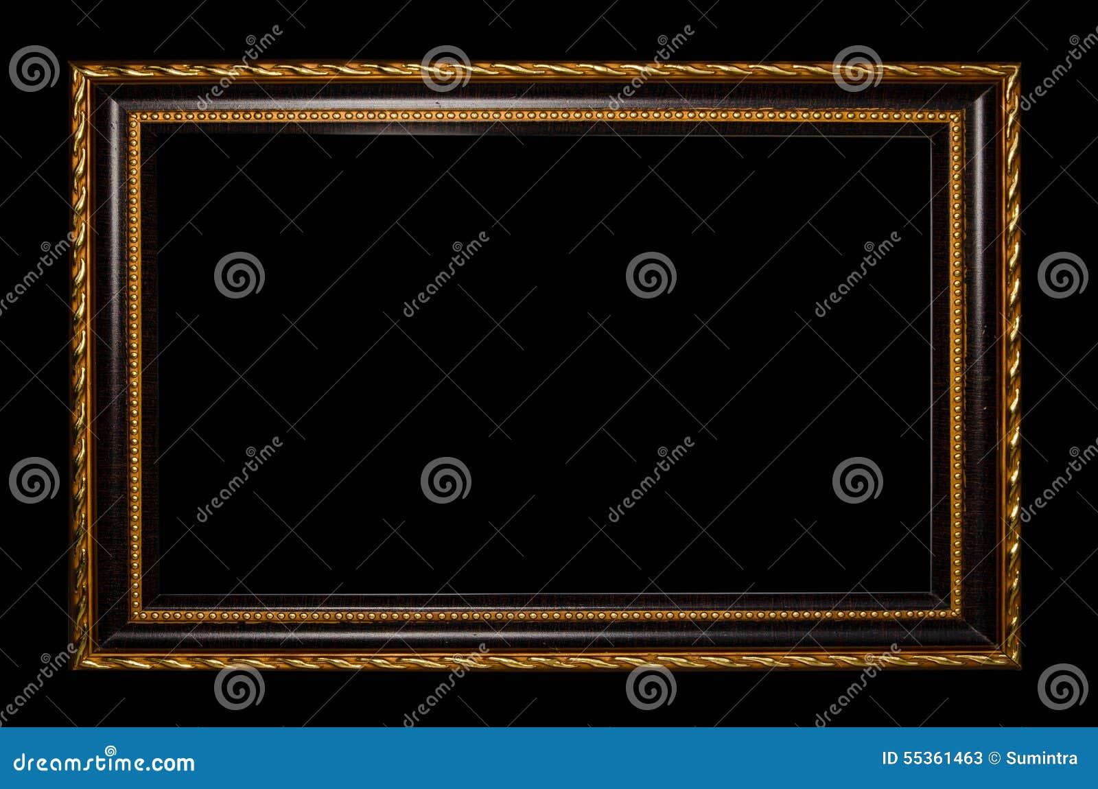 cadre en bois pour la peinture ou photo sur le fond noir image stock image du classique. Black Bedroom Furniture Sets. Home Design Ideas