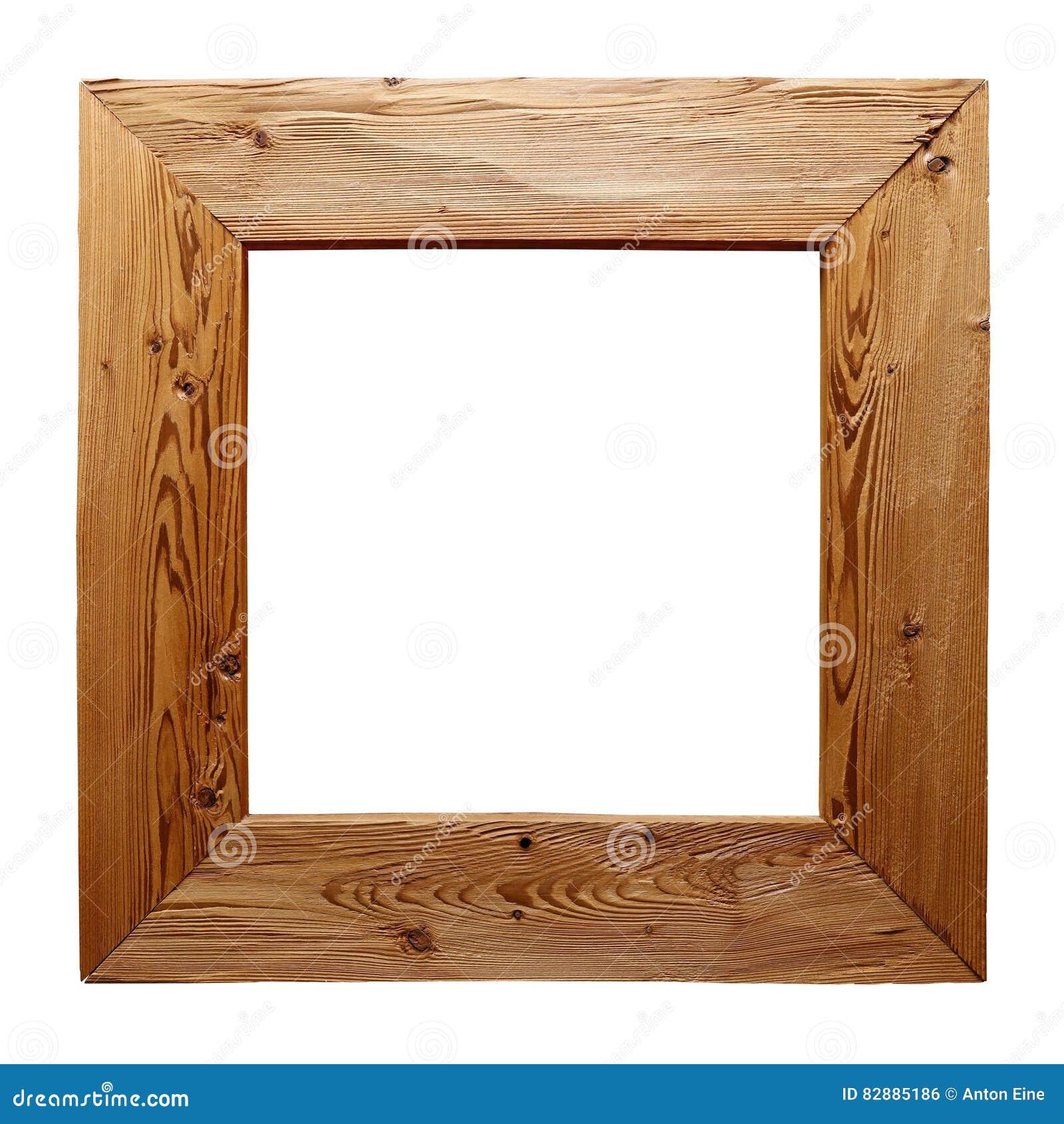 Cadre en bois rustique d 39 isolement sur le blanc photo for Cadre de fenetre en bois