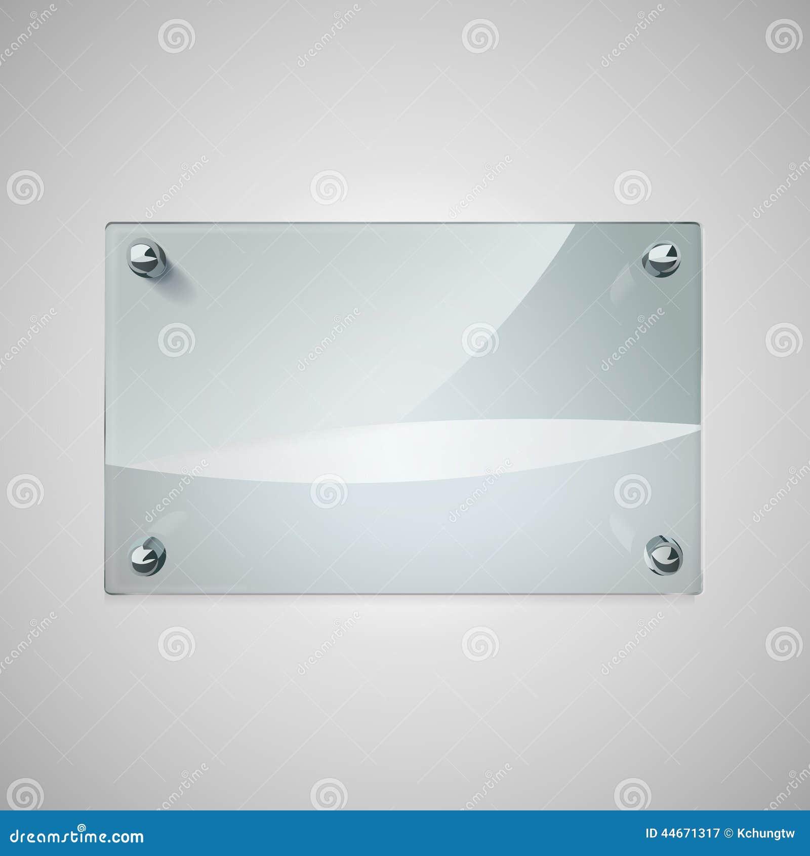 cadre en verre vide avec des rivets en m tal illustration. Black Bedroom Furniture Sets. Home Design Ideas