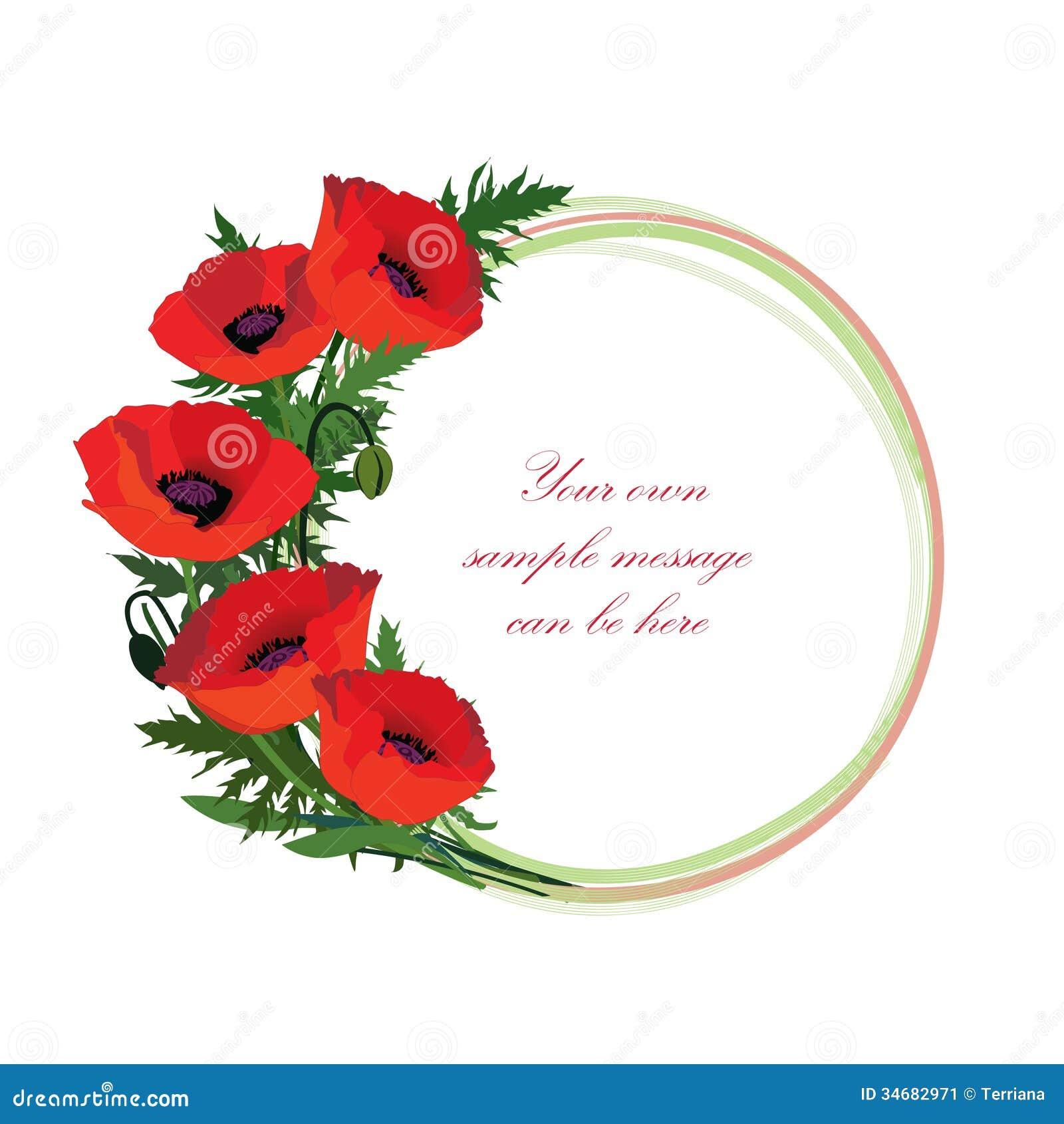 Cadre Floral R Gl Avec Le Bouquet De Fleur L Ments
