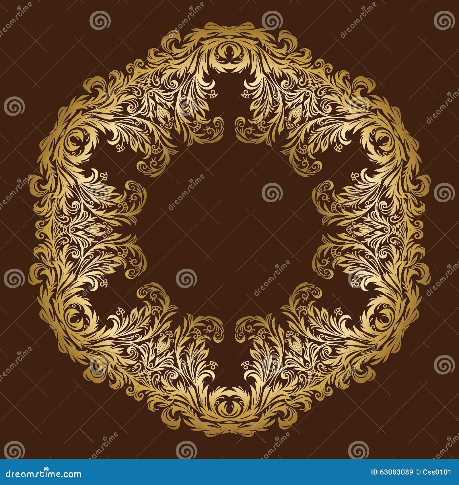 Download Cadre Floral Royal Fleuri D'or De Vintage De Vecteur Illustration de Vecteur - Illustration du élément, insigne: 63083089