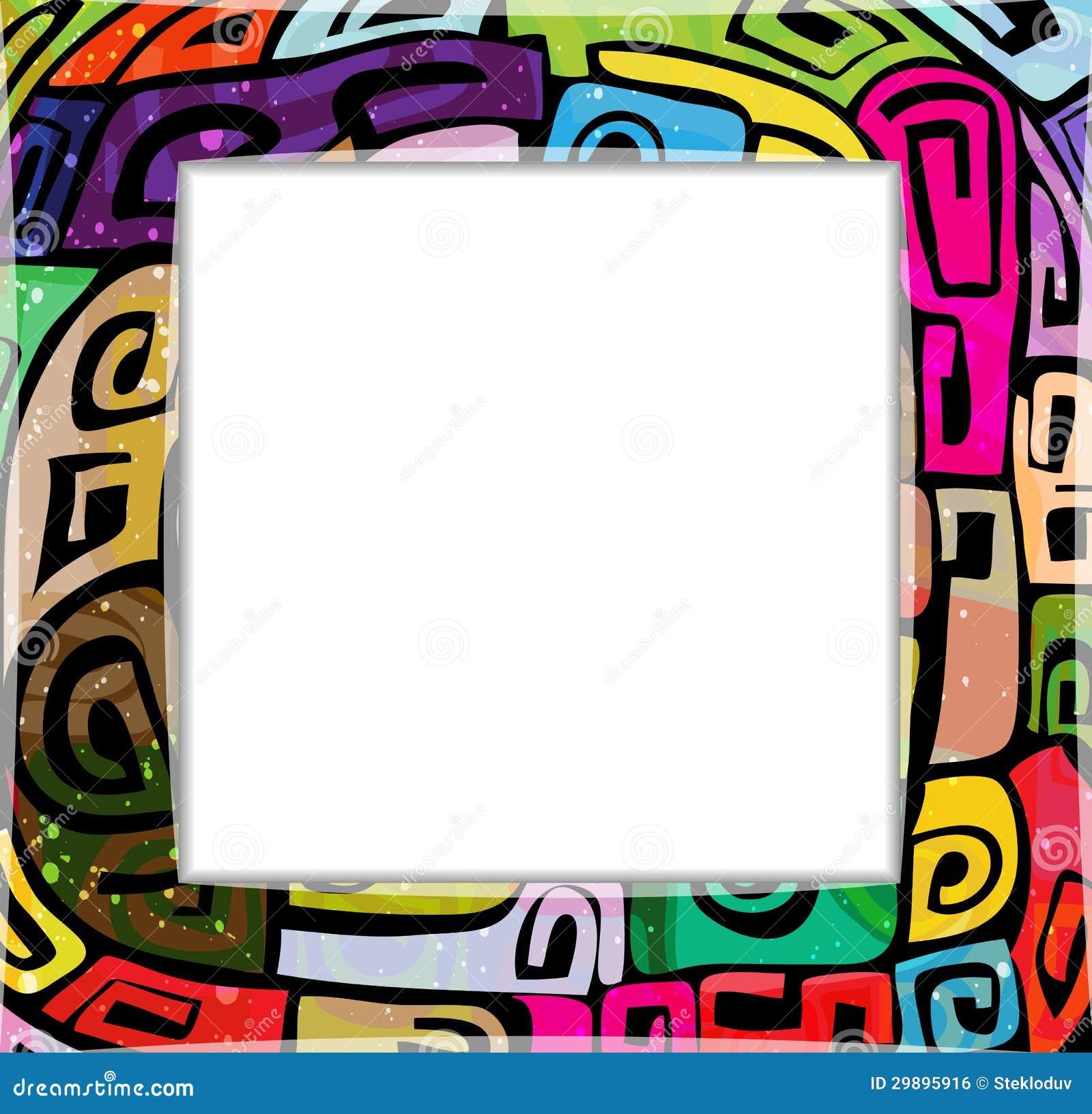Cadre moderne color image libre de droits image 29895916 for Cadre photo moderne