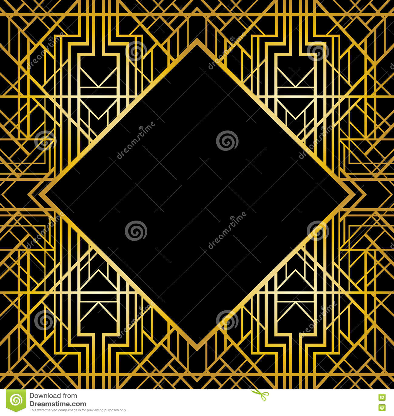 cadre géométrique d'art déco (style des années 1920) illustration de