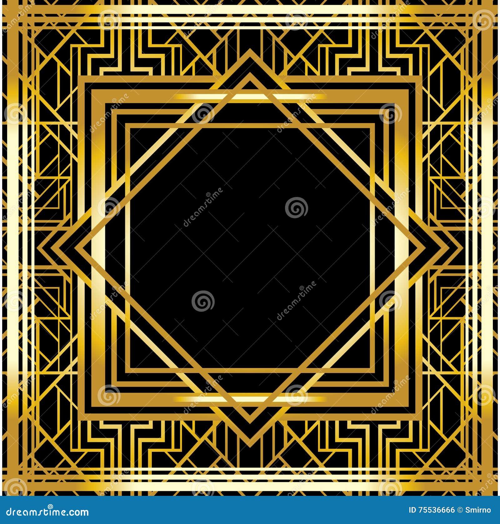 cadre géométrique d'art déco (style des années 1920) illustration