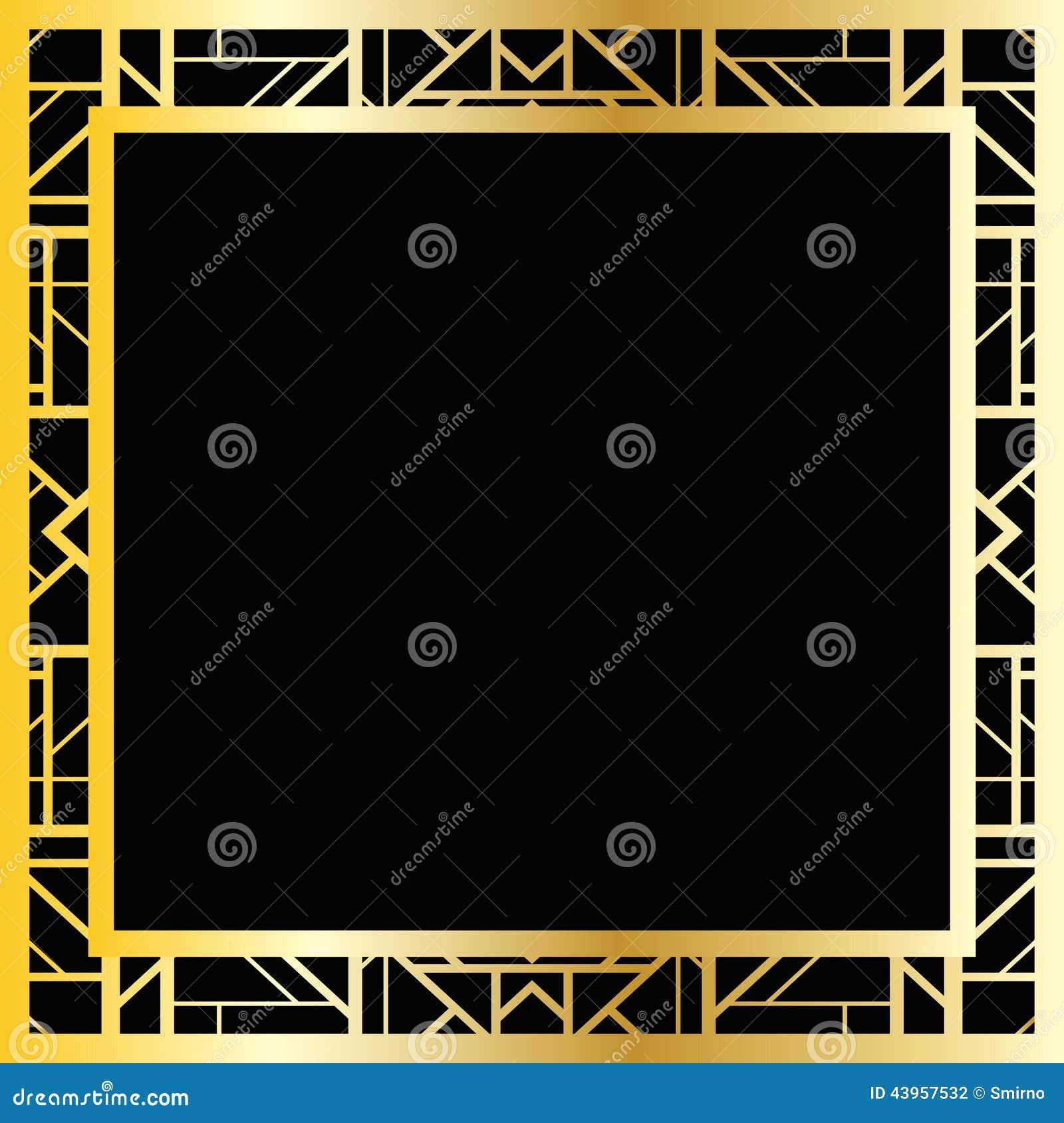 cadre géométrique d'art déco (style des années 1920), illustration