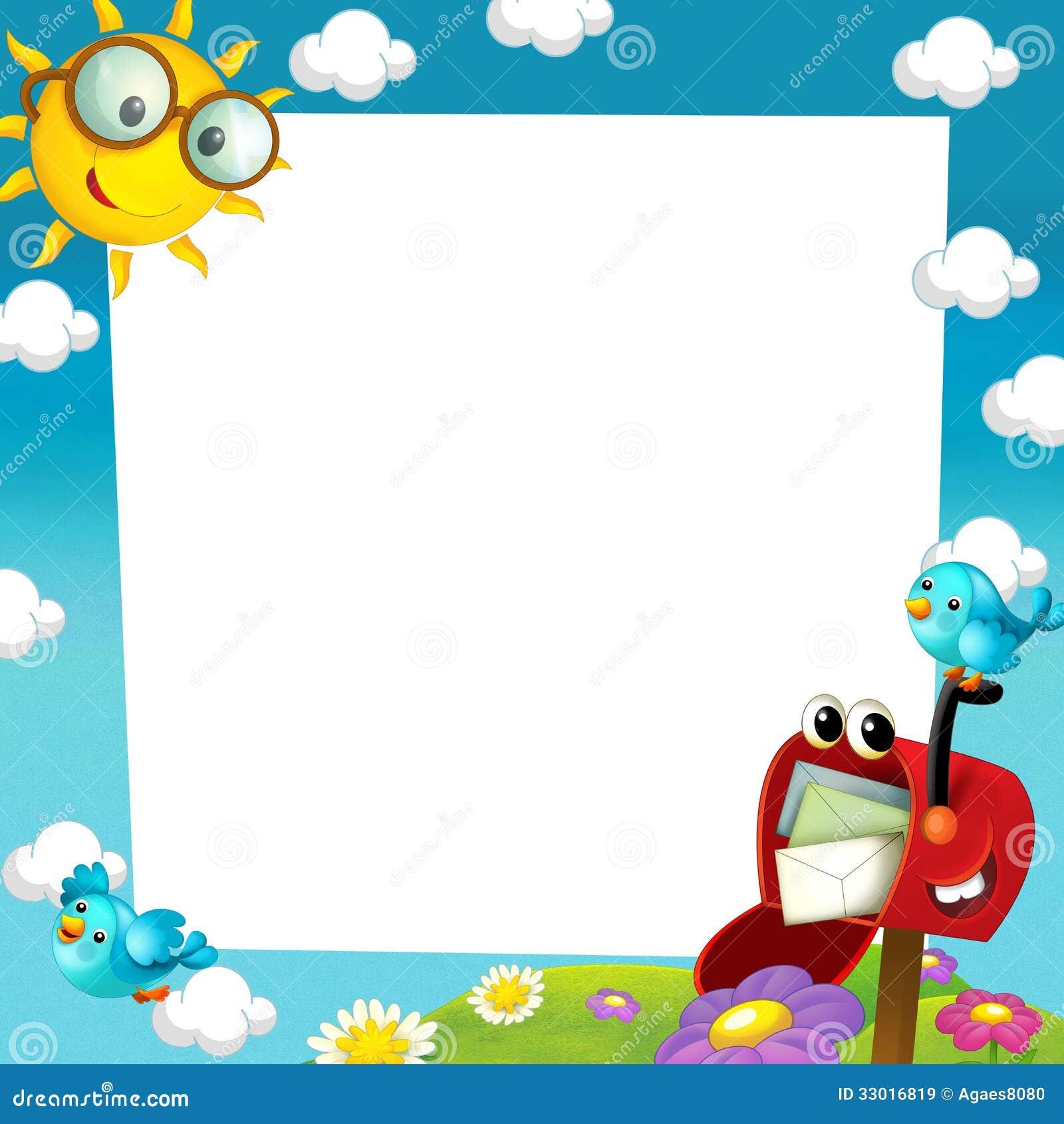Cadre Heureux Et Color 233 Pour Les Enfants Illustration