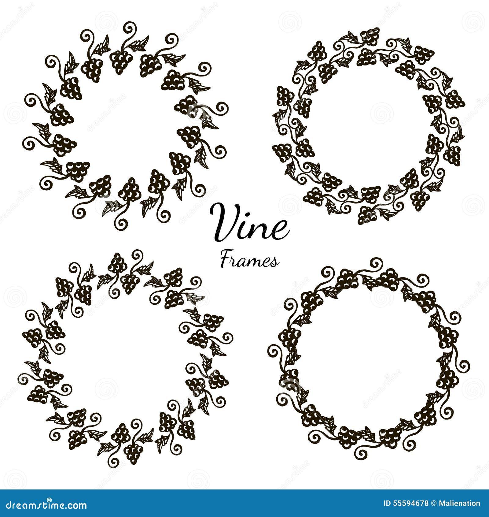 cadre l gant d 39 l ment de conception de raisin cadre d coratif avec l 39 ornement floral. Black Bedroom Furniture Sets. Home Design Ideas