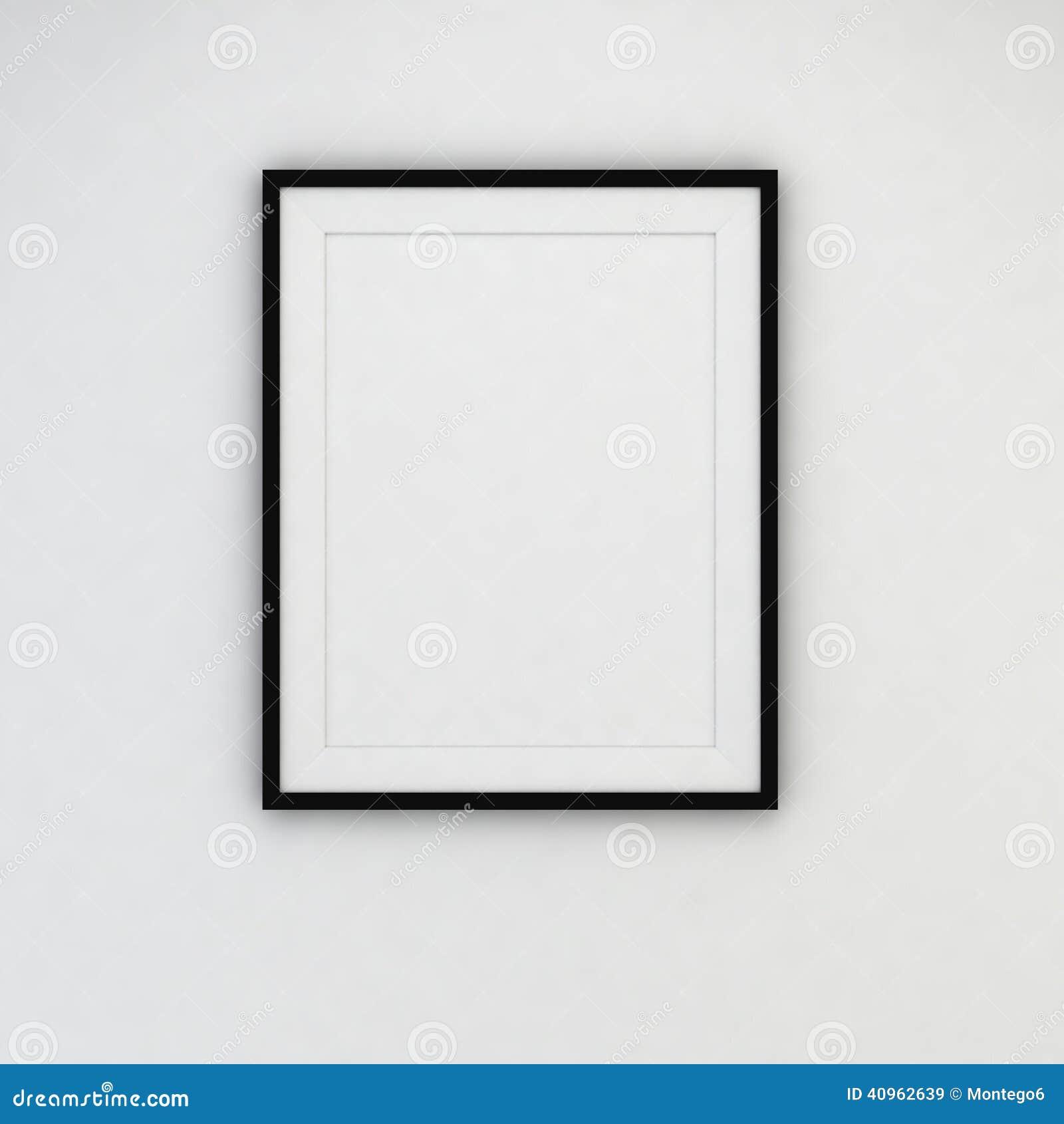 cadre moderne sur le mur illustration stock image 40962639. Black Bedroom Furniture Sets. Home Design Ideas