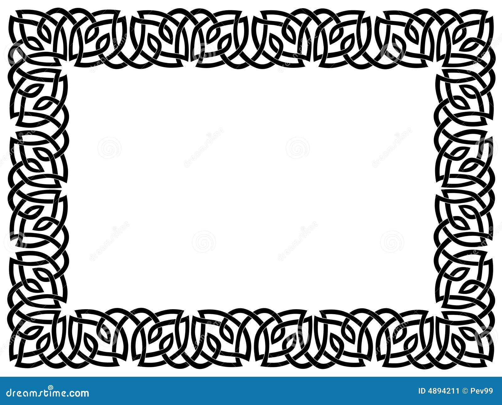 Cadre noir avec l 39 ornement celtique image stock image 4894211 for Cadre noir et blanc