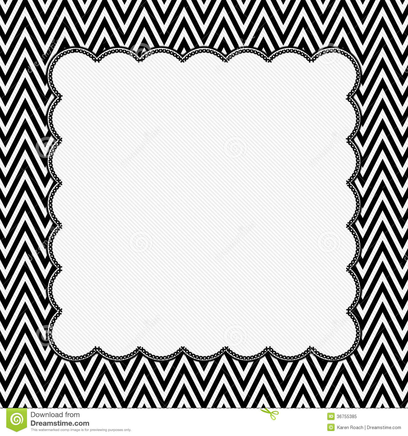 cadre noir et blanc de chevron avec le fond de broderie image stock image du mat riau. Black Bedroom Furniture Sets. Home Design Ideas