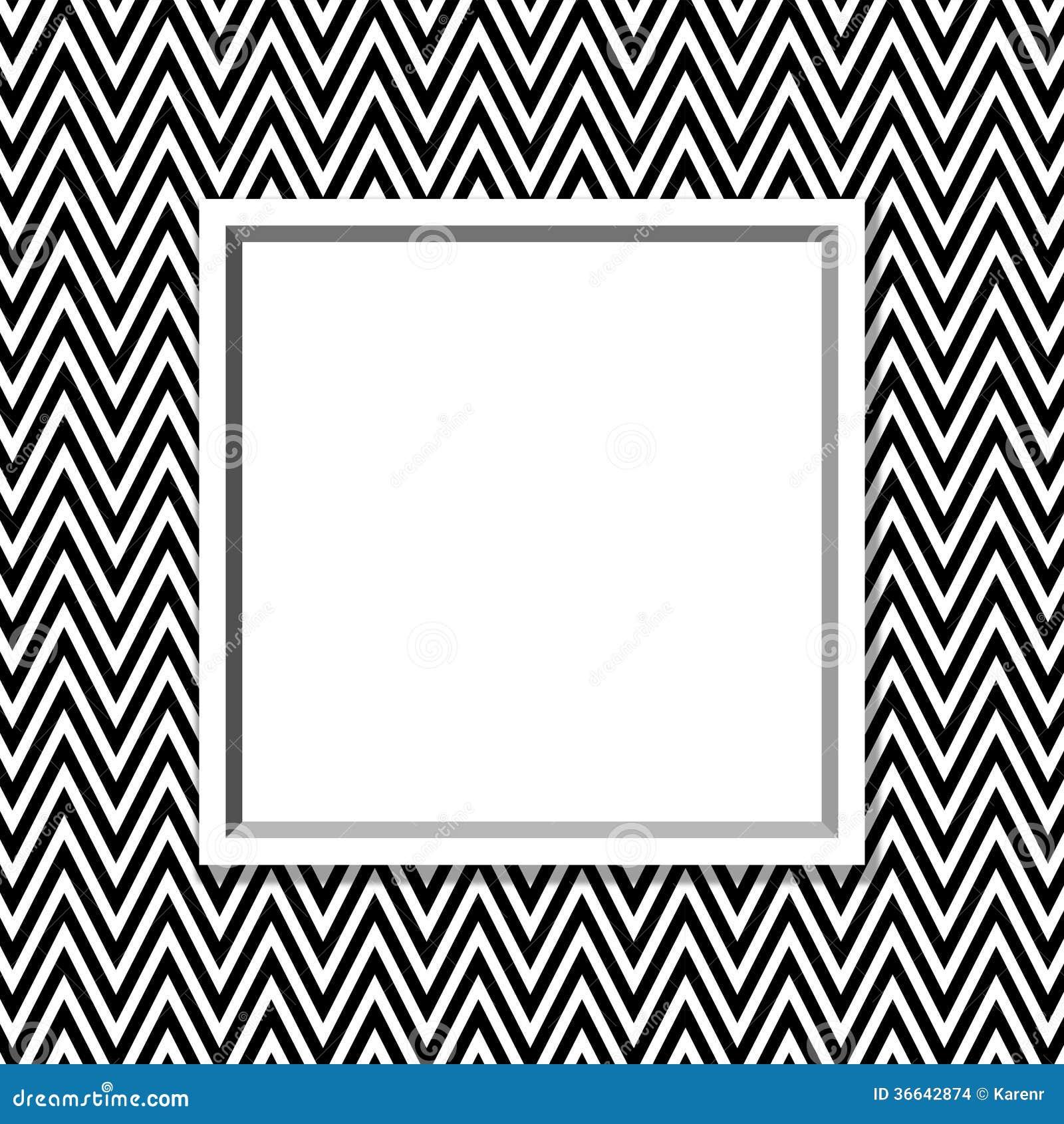 cadre noir et blanc de chevron avec le fond de cadre. Black Bedroom Furniture Sets. Home Design Ideas
