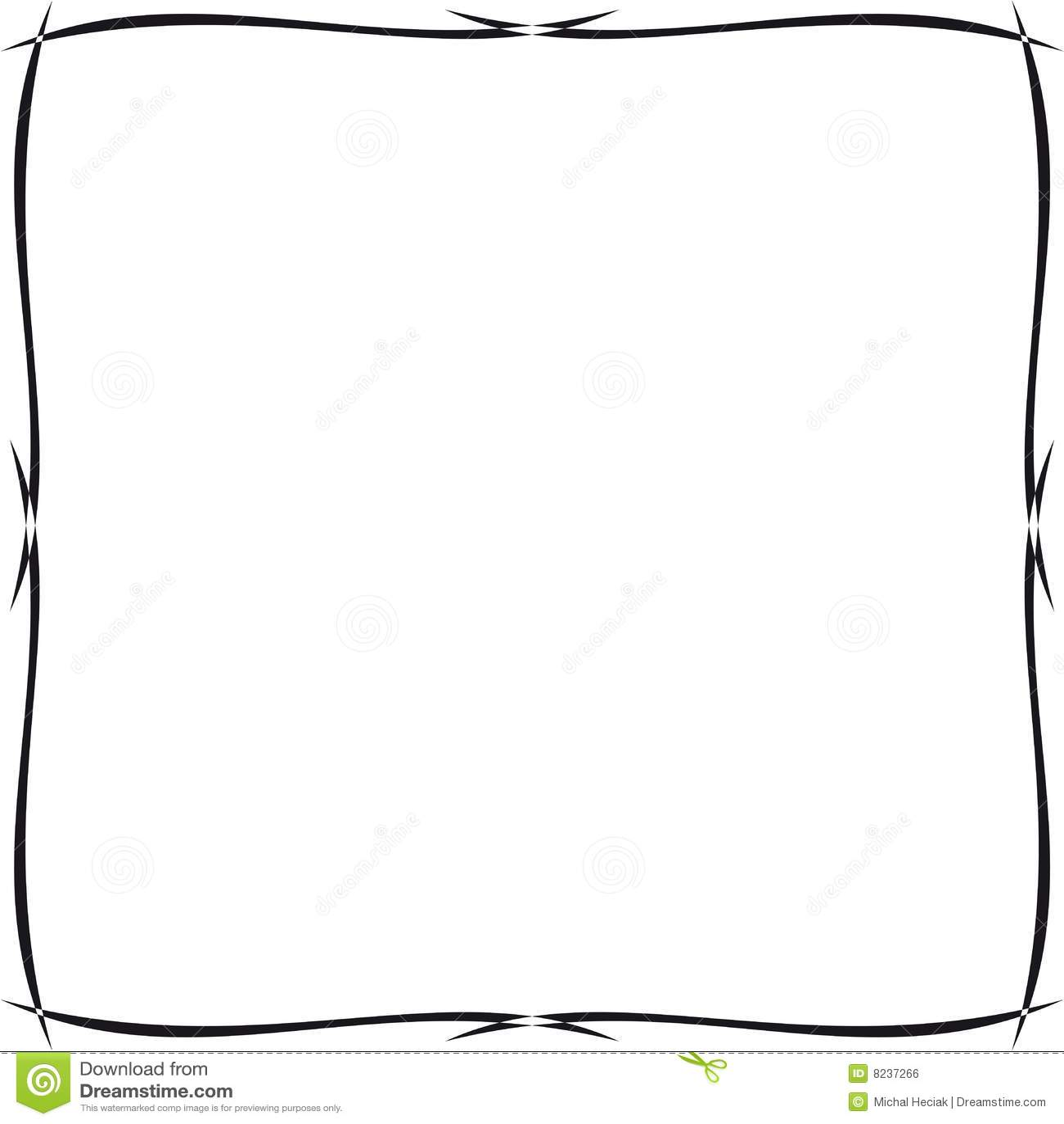 cadre ornemental simple illustration de vecteur illustration du detail 8237266. Black Bedroom Furniture Sets. Home Design Ideas