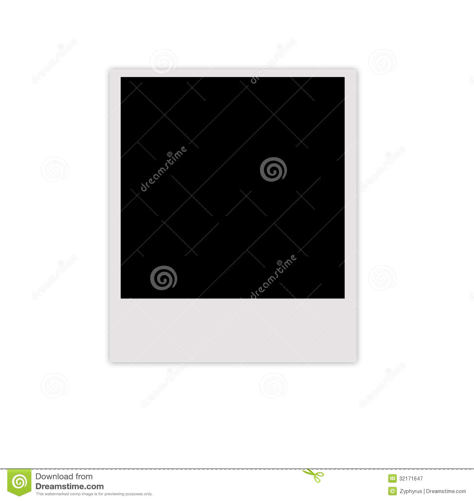 Cadre polaroïd de photo