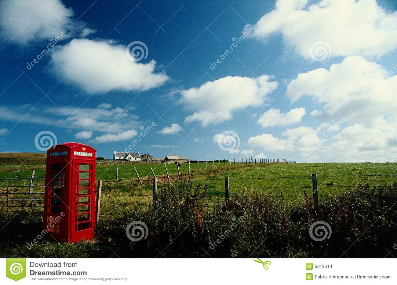 Cadre rural de téléphone