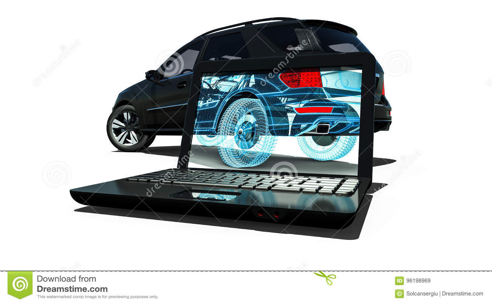 Cadre SUV de fil d ordinateur portable