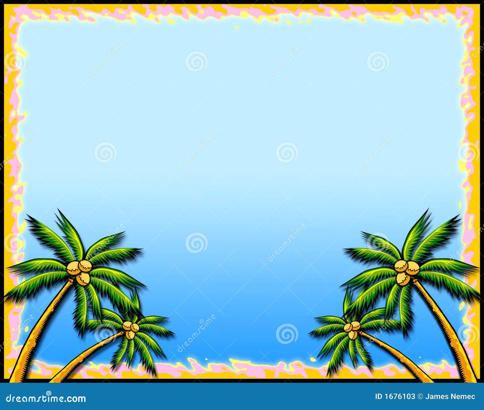 Cadre tropical de palmier
