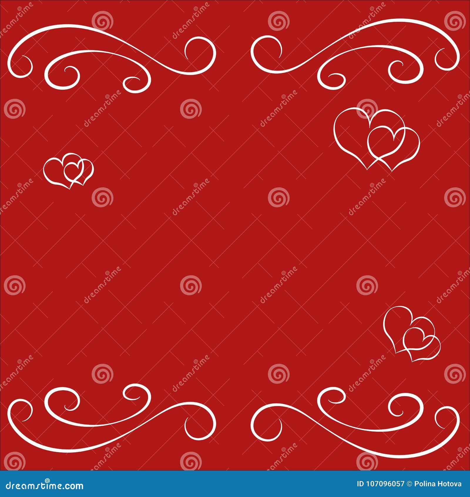 Cadre Vide De Frontiere De Saint Valentin Heureux Abstrait Pour La