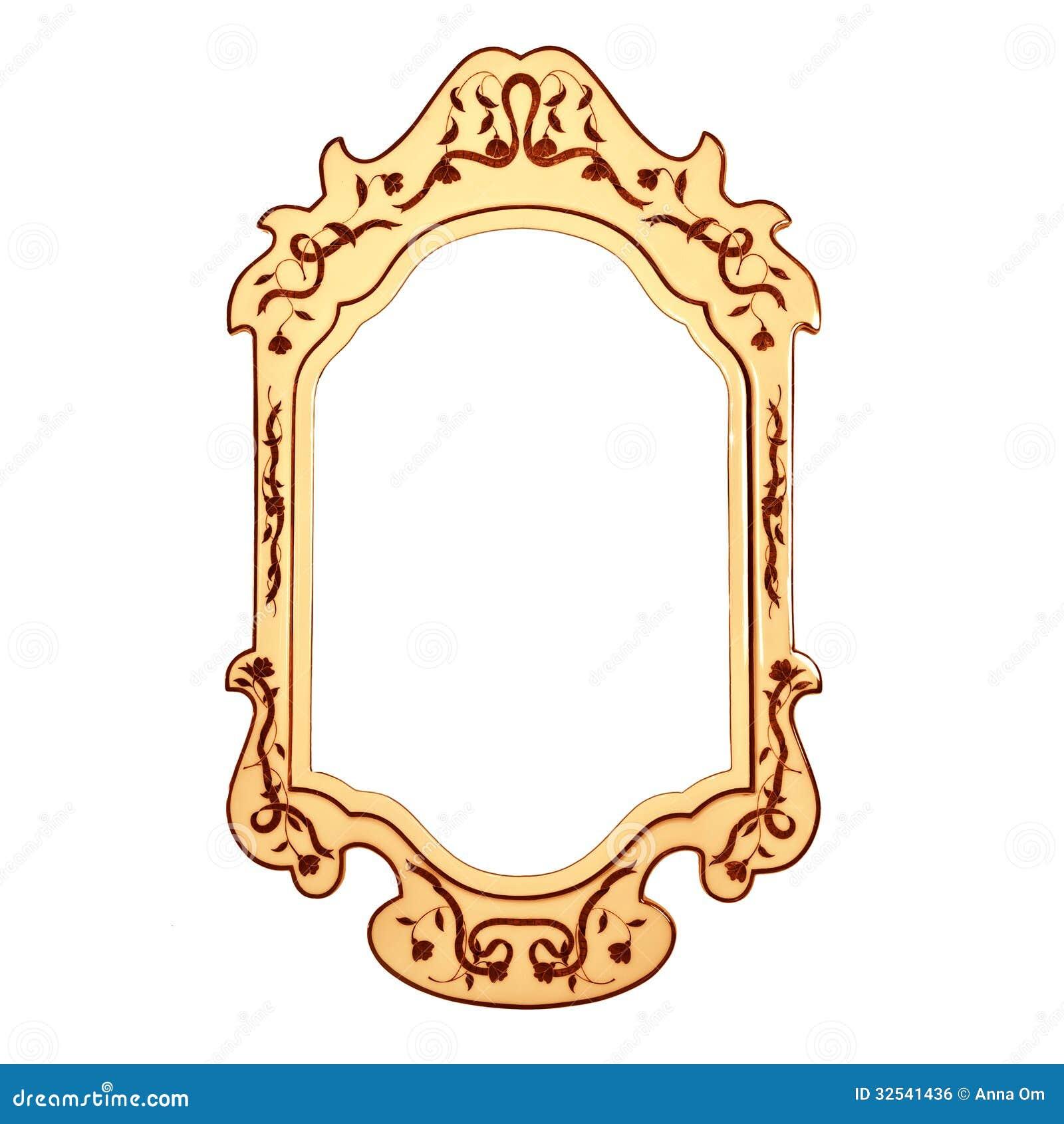 Cadre vide de miroir de vintage photo stock image du for Cadre miroir