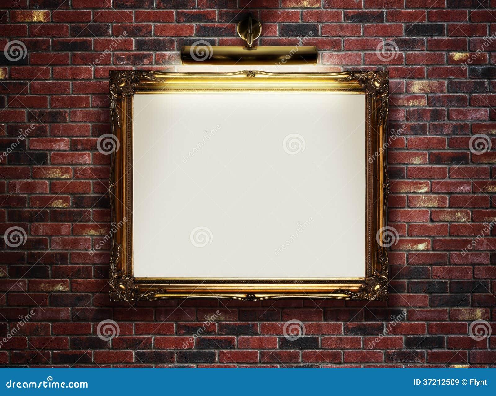 cadre vide sur le mur images libres de droits image 37212509. Black Bedroom Furniture Sets. Home Design Ideas