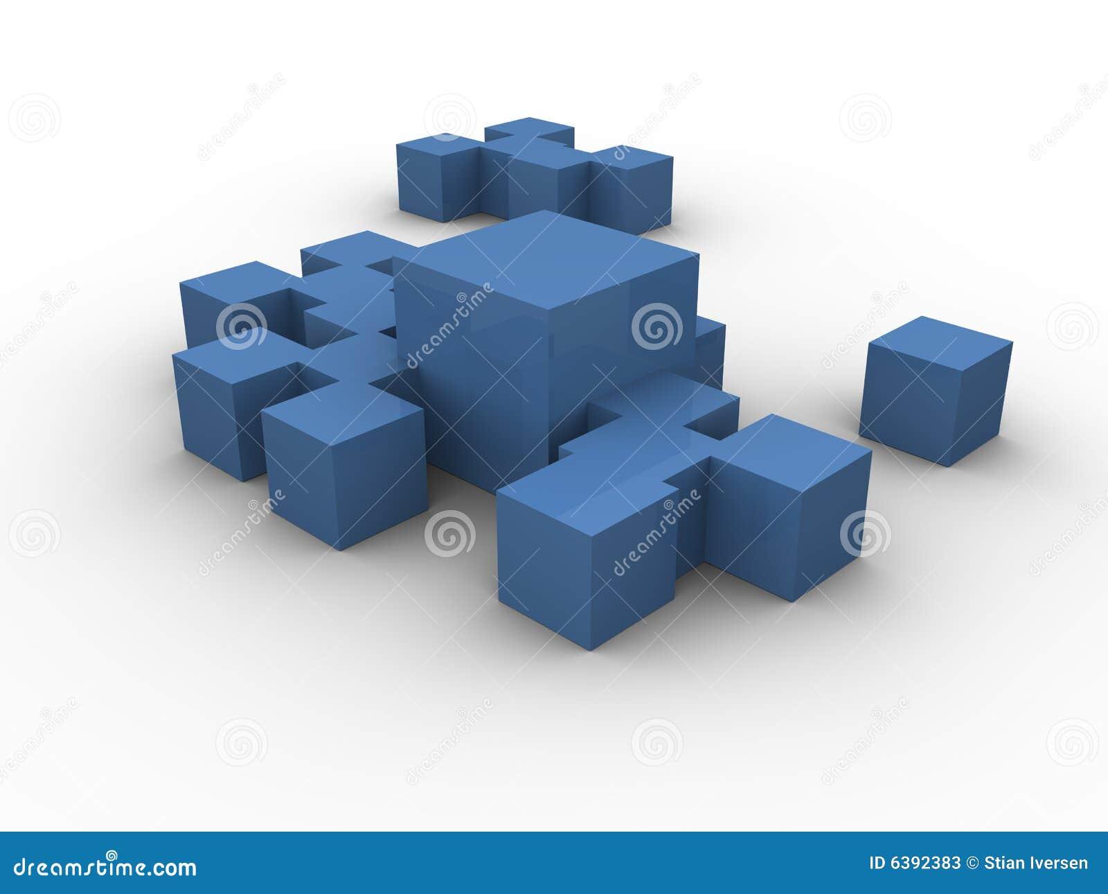 Cadres bleus groupés