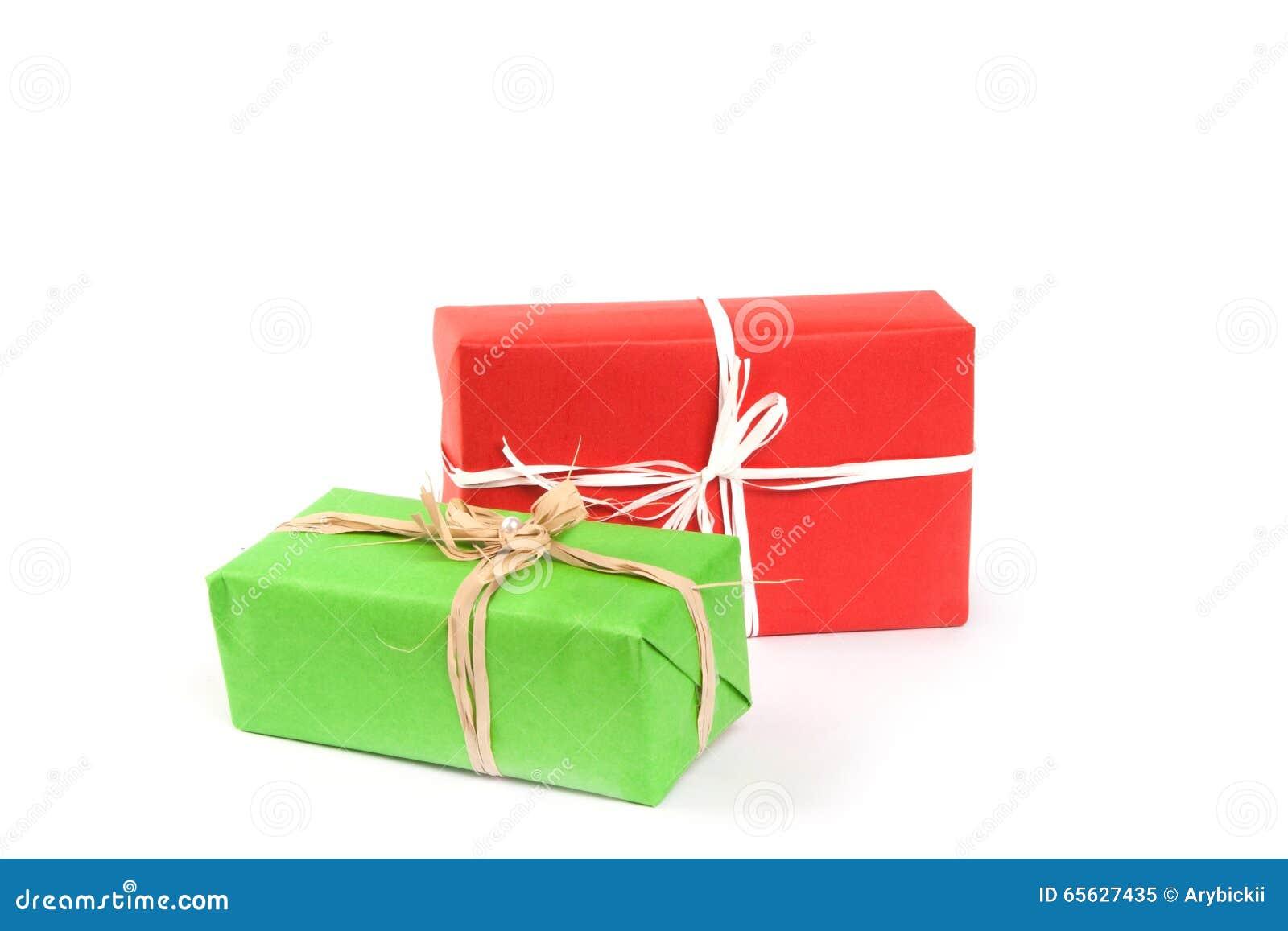 Cadres de cadeau sur le blanc