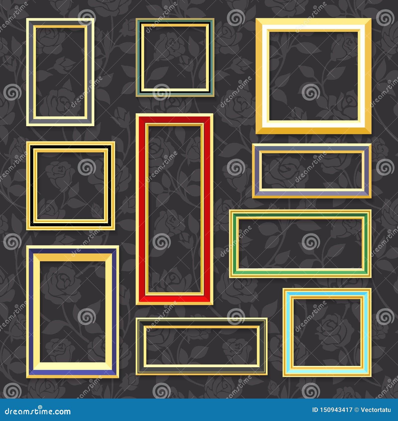 Deco Cadre Photo Mur cadres de tableau classiques illustration de vecteur