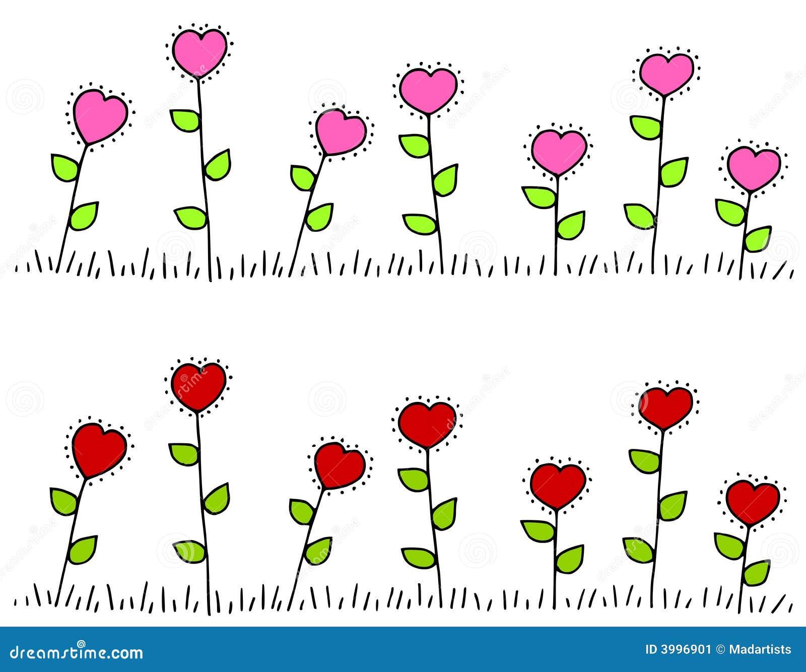 Cadres en forme de coeur rouge rose de fleur image stock image 3996901 - Fleur en forme de coeur ...