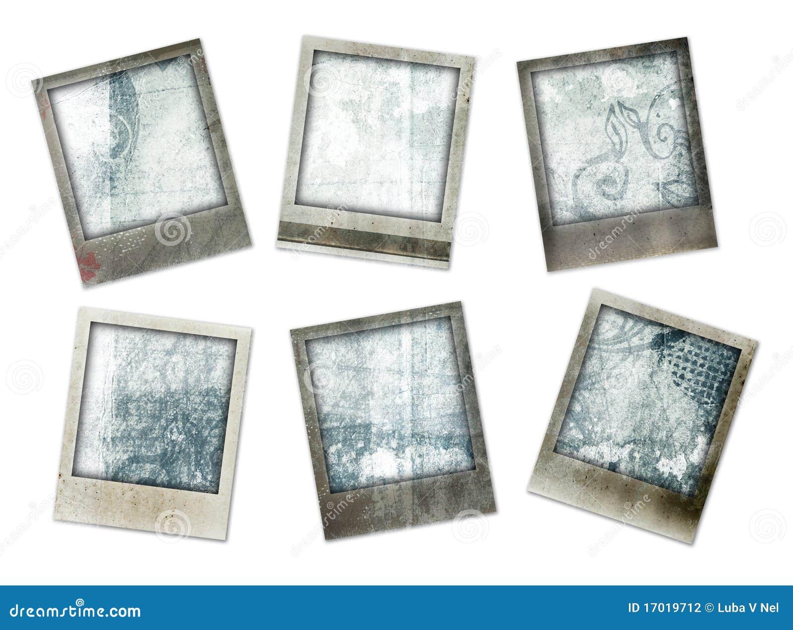 Cadres grunges de photo avec des conceptions