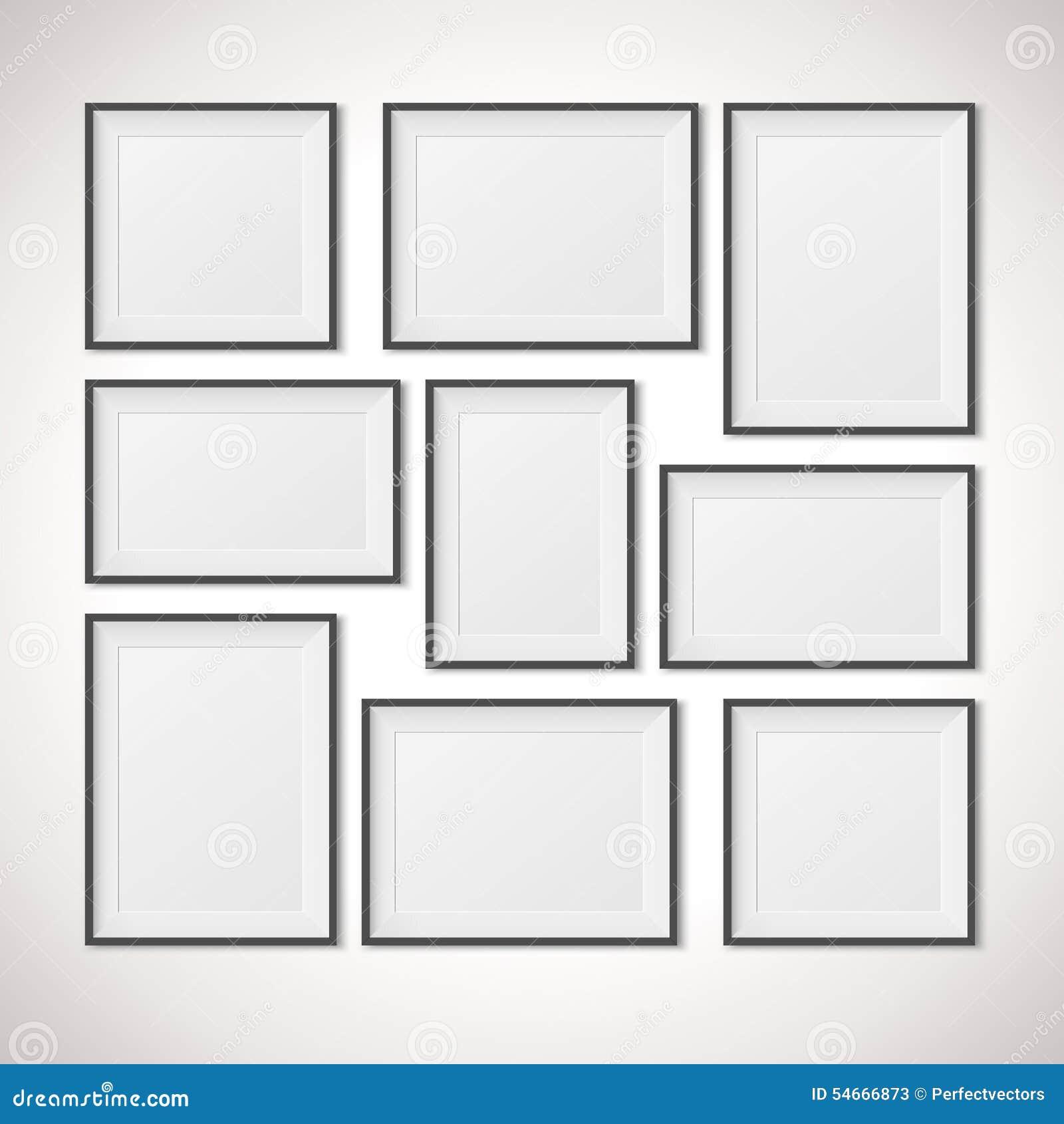 cadres multiples illustration de vecteur illustration du blanc 54666873. Black Bedroom Furniture Sets. Home Design Ideas
