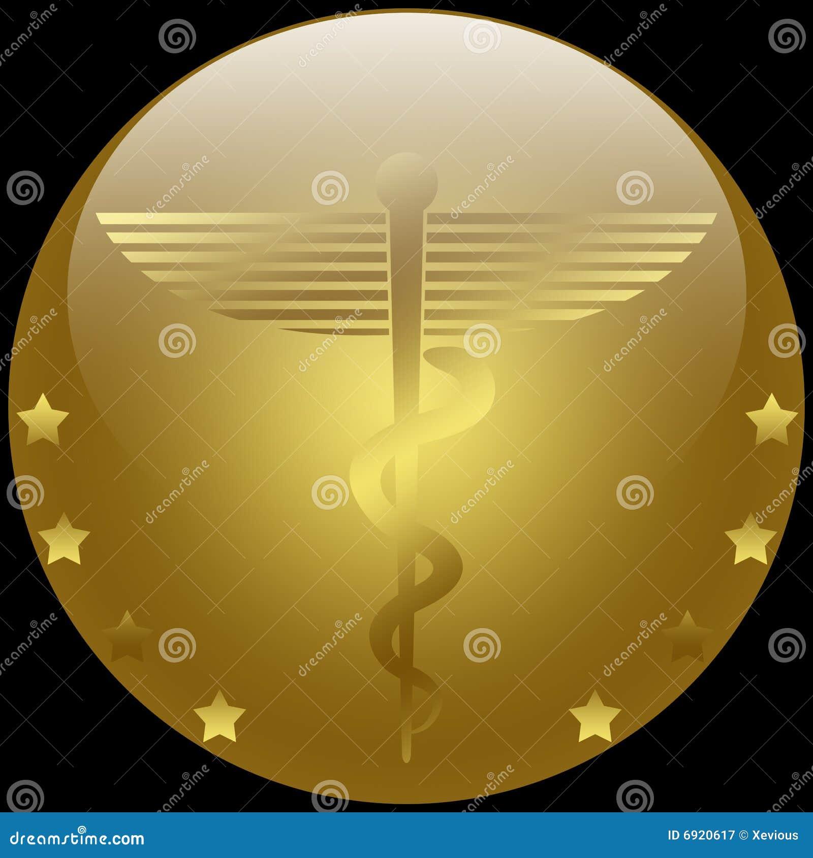 Del simbolo del caduceus, comunemente usato dalla professione medica
