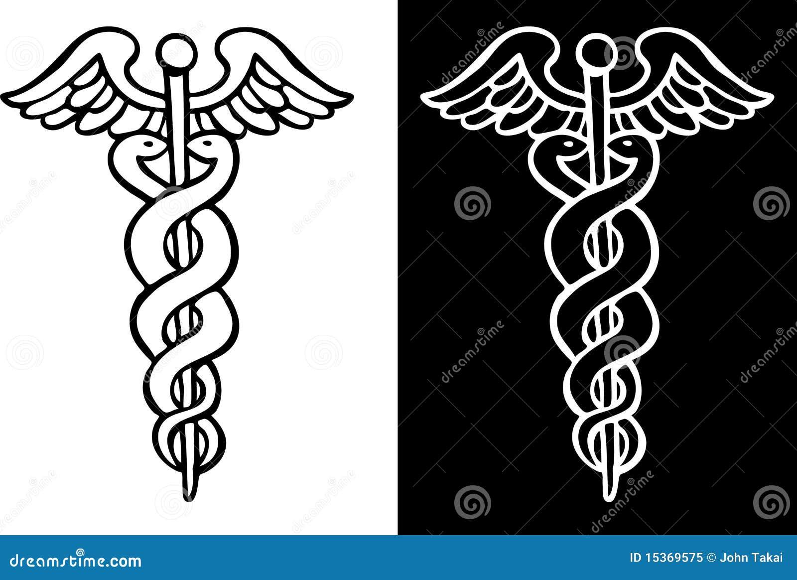 Sanitäter symbol  Caduceus-Symbol Lizenzfreies Stockfoto - Bild: 15369575