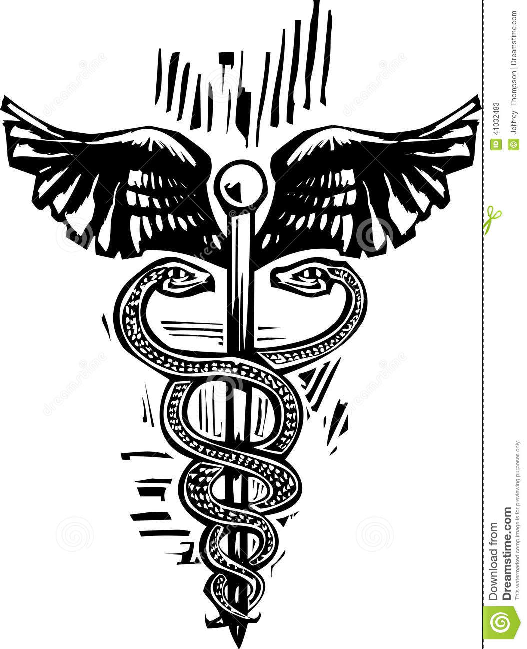 Caduceus Stock Vector - Image: 41032483