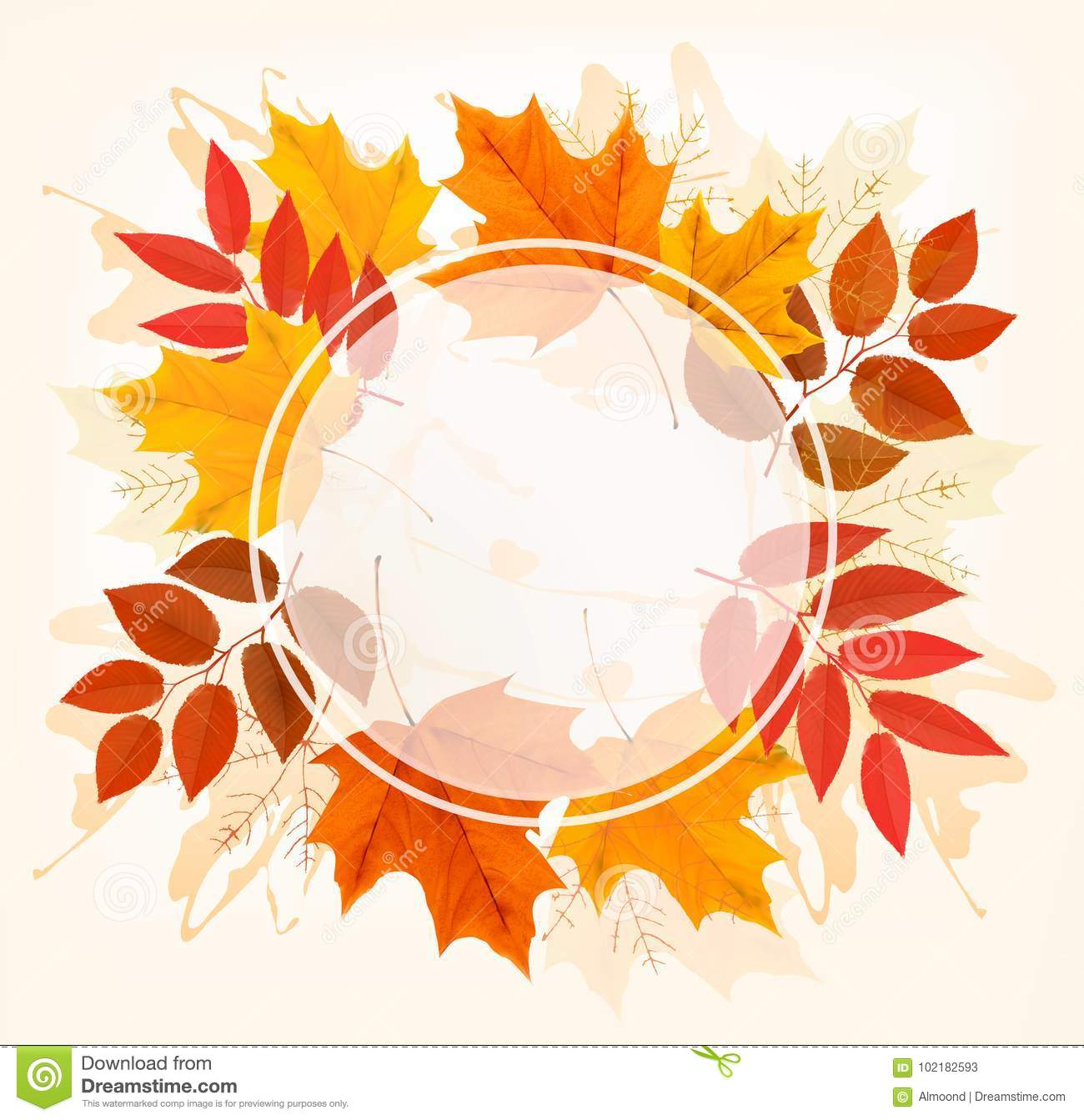 Caduta Autumn Colorful Leaves Background