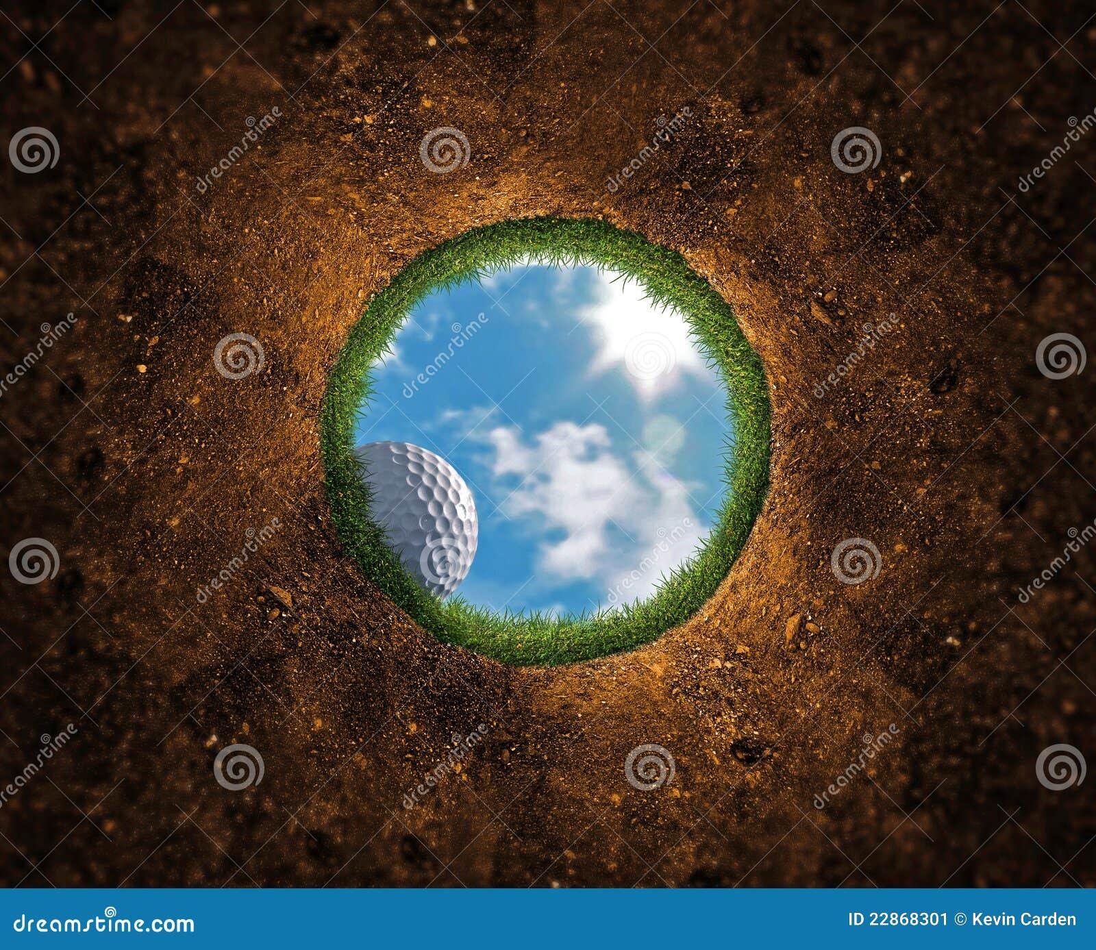 Caduta della sfera di golf