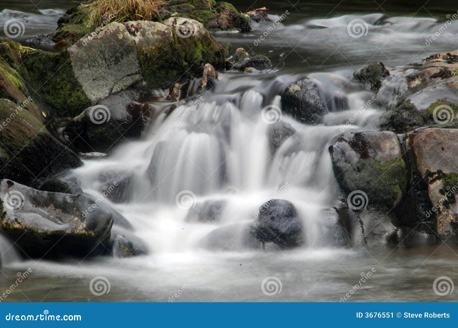 Download Caduta Molto Lenta Dell'acqua Dell'otturatore Immagine Stock - Immagine di frondoso, paese: 3676551