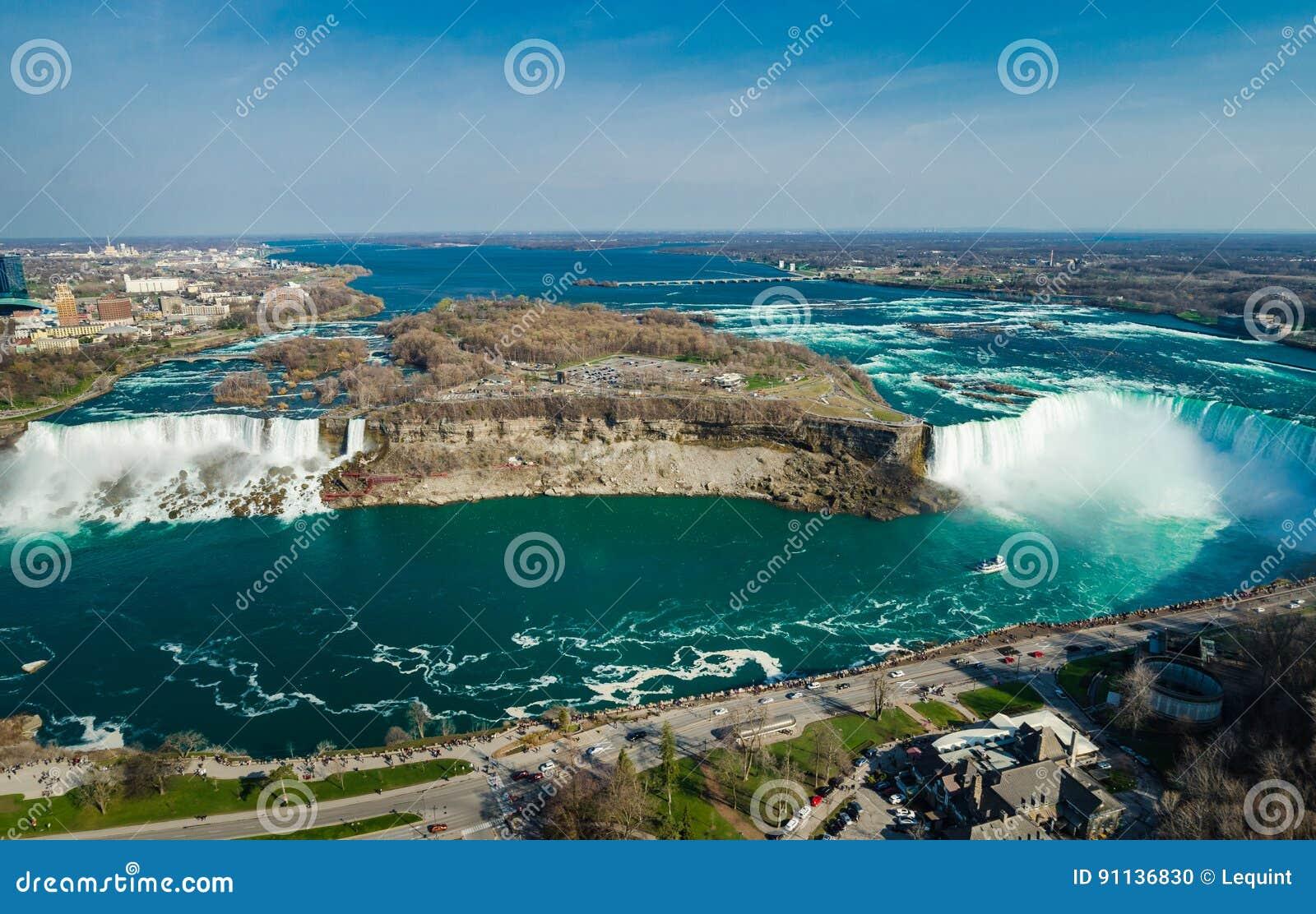 Cadute della scarpa del cavallo di Ontario Canada di cascate del Niagara
