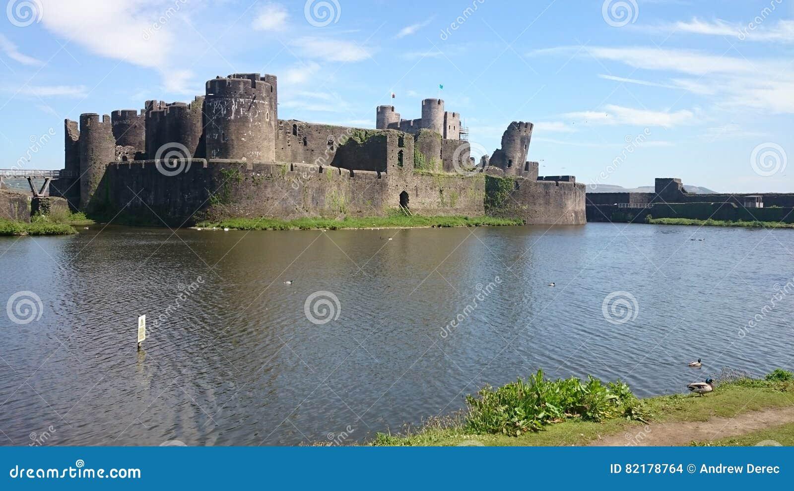 Caerphilly城堡威尔士