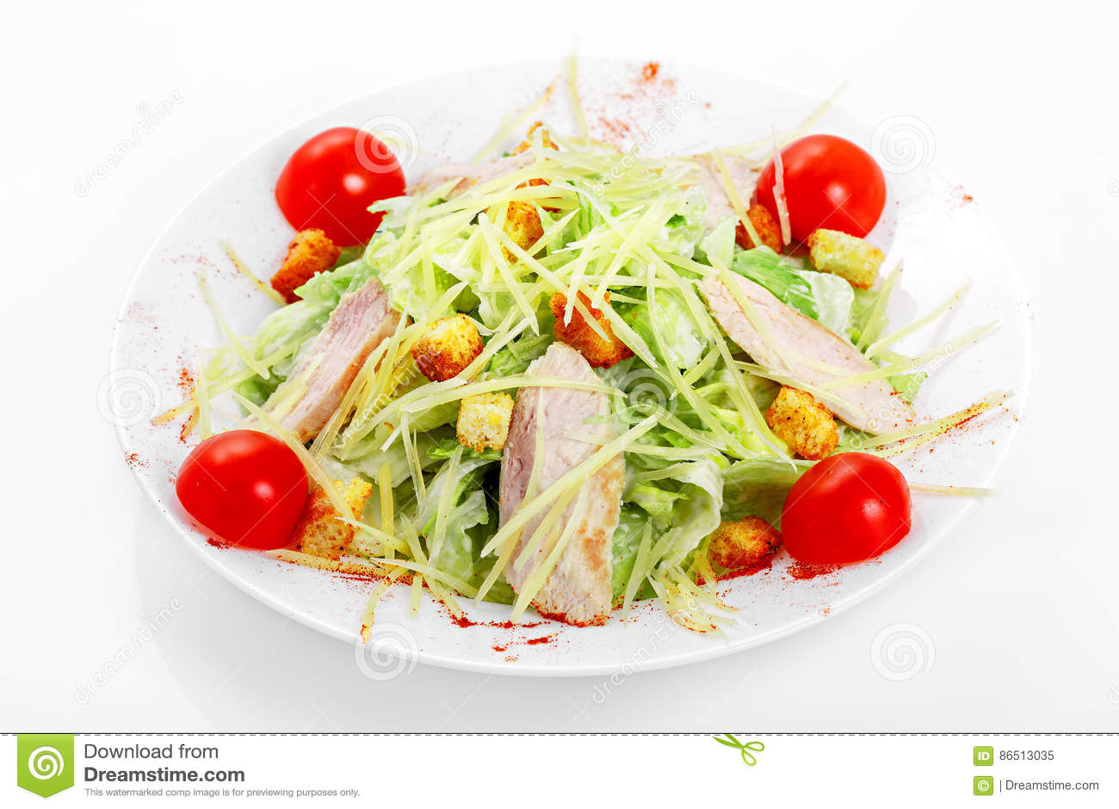 Caesar sallad med höna, isberggrönsallat, parmesanost, Caesar dressing